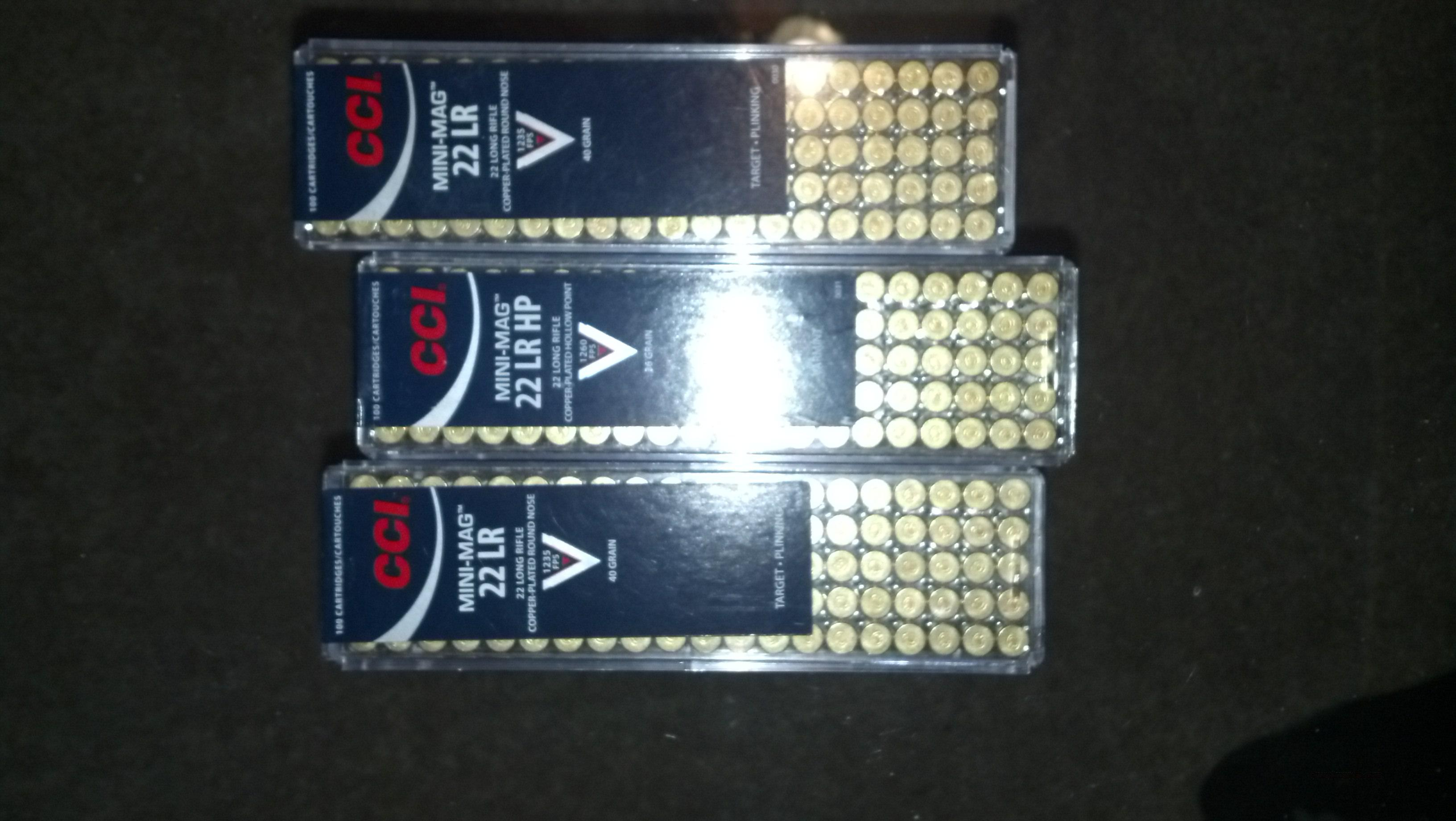 22lr 22 lr cci mini mag 300 rds  Non-Guns > Ammunition