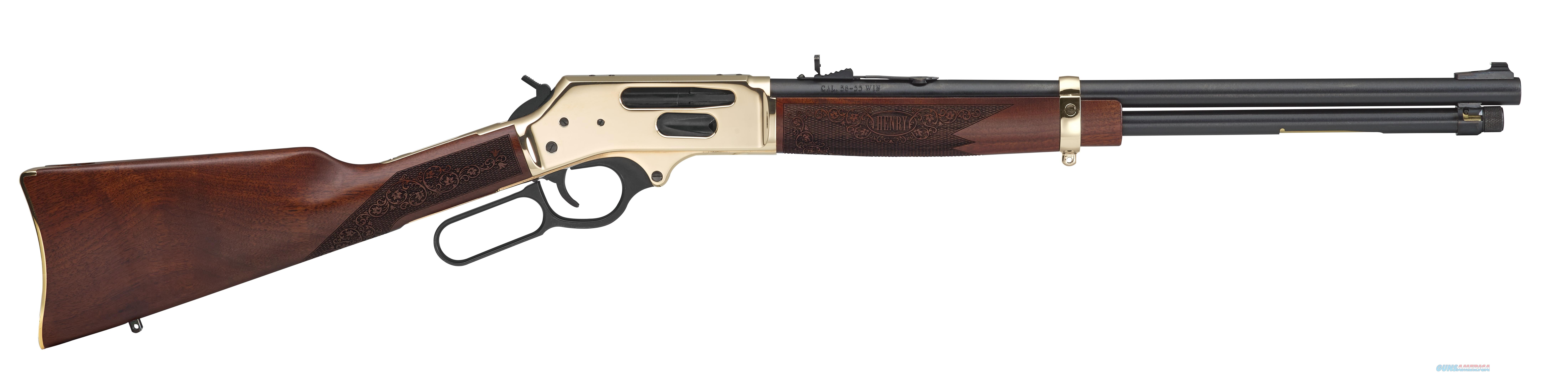 Henry Brass Lever Action Sidegate 38-55 Winchester Rifle  Guns > Rifles > Henry Rifle Company