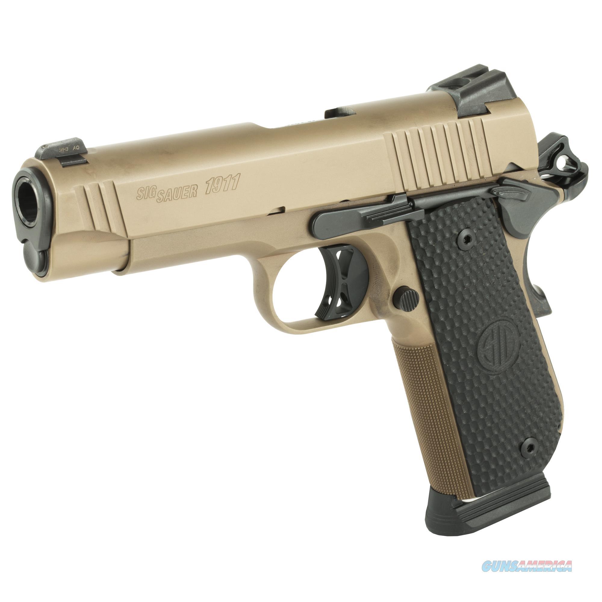 "SIG SAUER 1911TRAD 45ACP 4.2"" FDE SCPN 8RD   Guns > Pistols > Sig - Sauer/Sigarms Pistols > 1911"