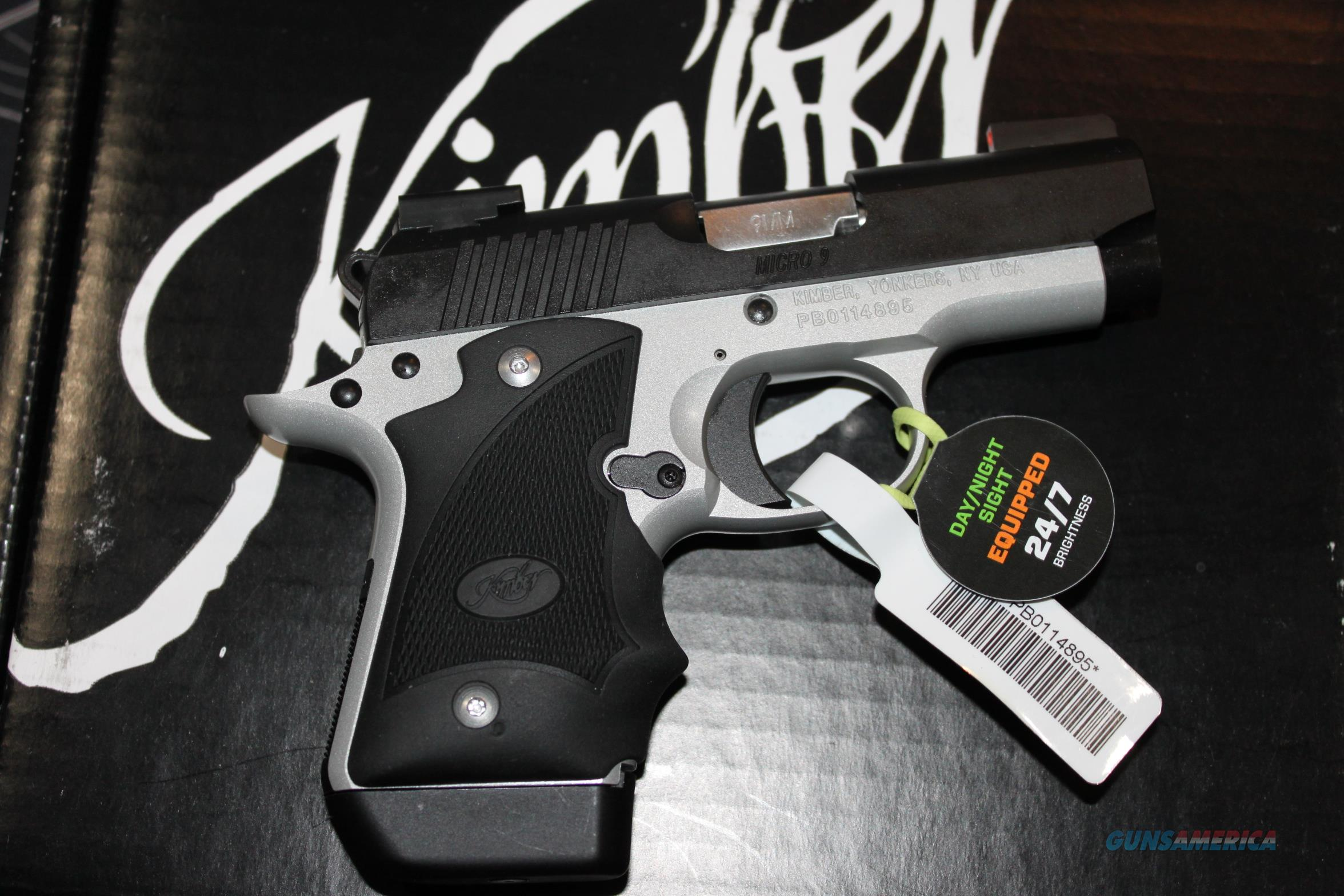 Kimber Micro 9 Two-Tone Day-Night TruGlo TFX Pro Hogue Grips  Guns > Pistols > Kimber of America Pistols > Micro 9