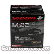 500(RDS) Winchester M*22 Black Copper Plated Round Nose  Non-Guns > Ammunition