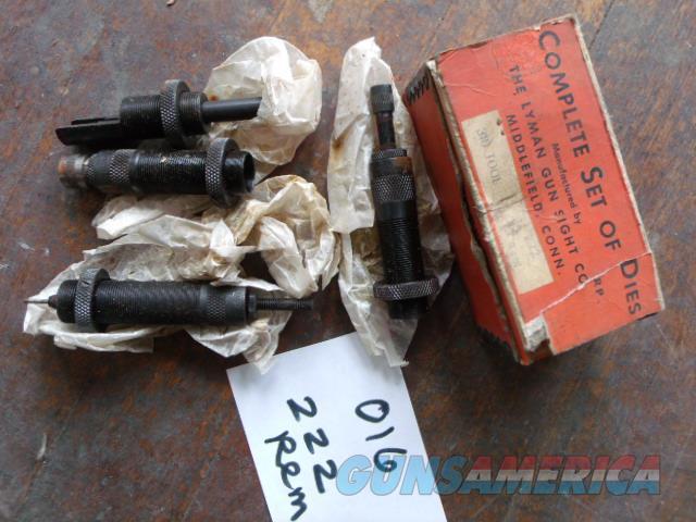lyman gun sight co dies  222 rem  Non-Guns > Reloading > Equipment > Metallic > Dies