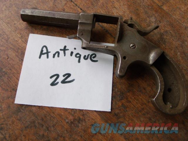 unmarked 22 oct barrel tiny revolver  Non-Guns > Gun Parts > Antique & Collector Parts > Indian Wars to Spanish American War
