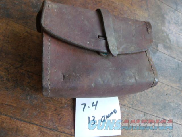old leather ammo pouch  Non-Guns > Military > Memorabilia