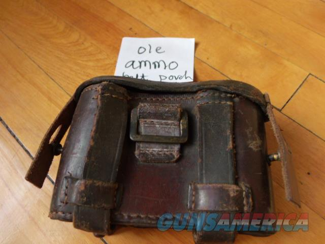 old ammo pouch  Non-Guns > Military > Memorabilia