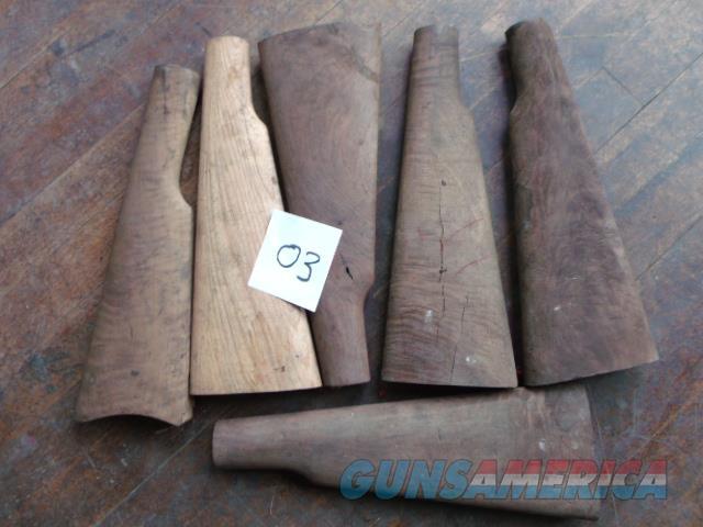 6 shaped buttstocks   Non-Guns > Gunstocks, Grips & Wood
