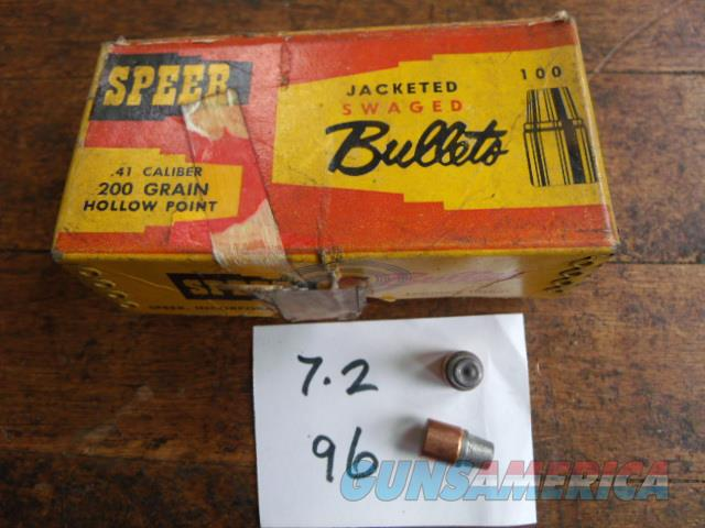 speer 41 mag  Non-Guns > Reloading > Components > Bullets