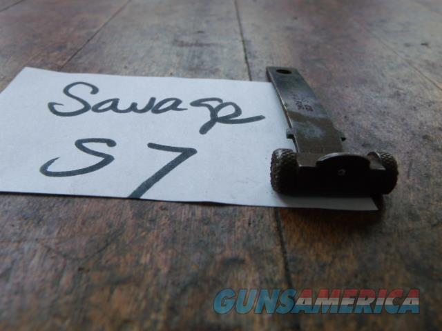 savage patent rear sight that has peep hole  Non-Guns > Gun Parts > Misc > Rifles