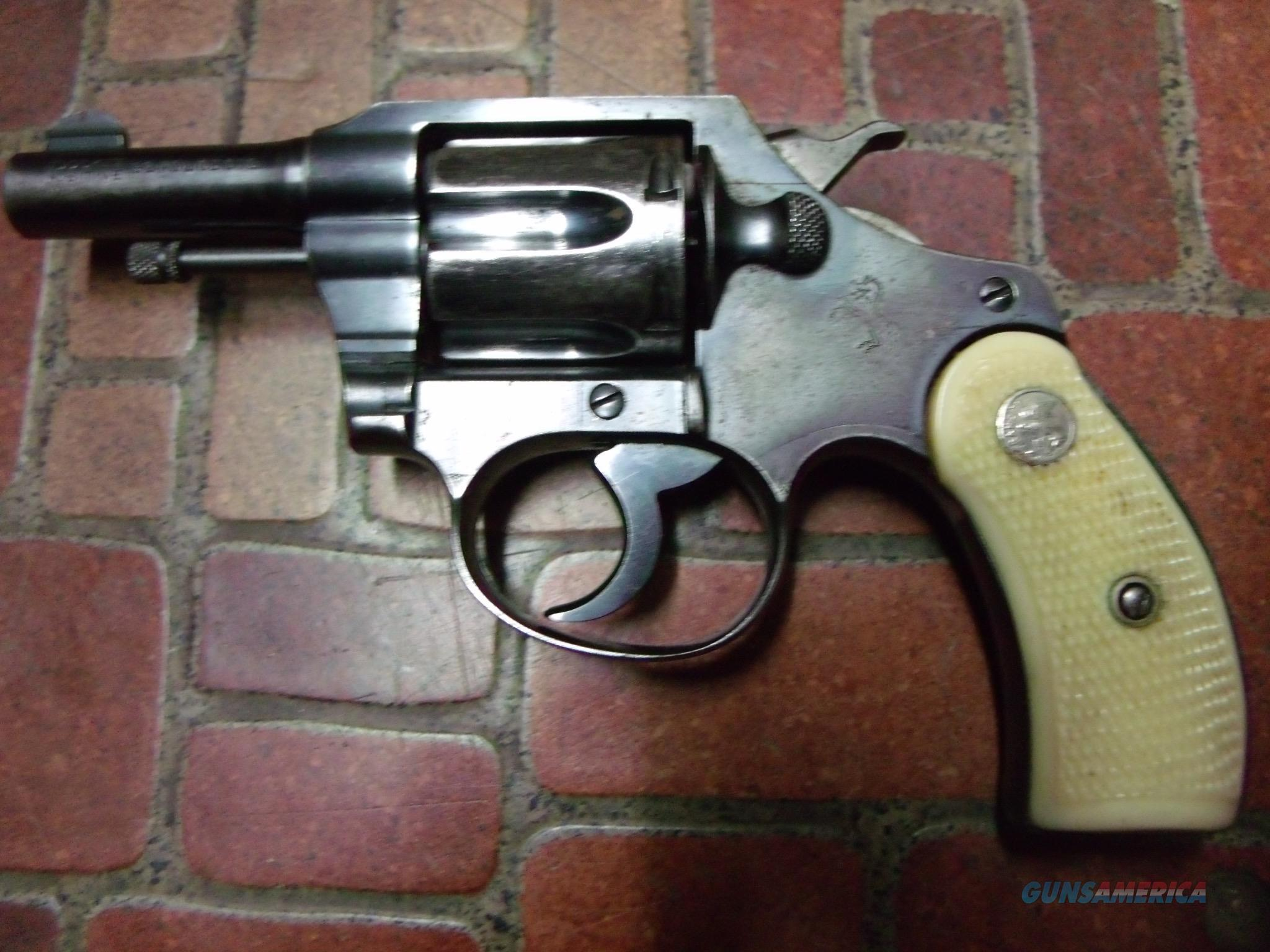 colt pocket positive 32 S&W L about 1940 production  Guns > Pistols > Colt Double Action Revolvers- Pre-1945