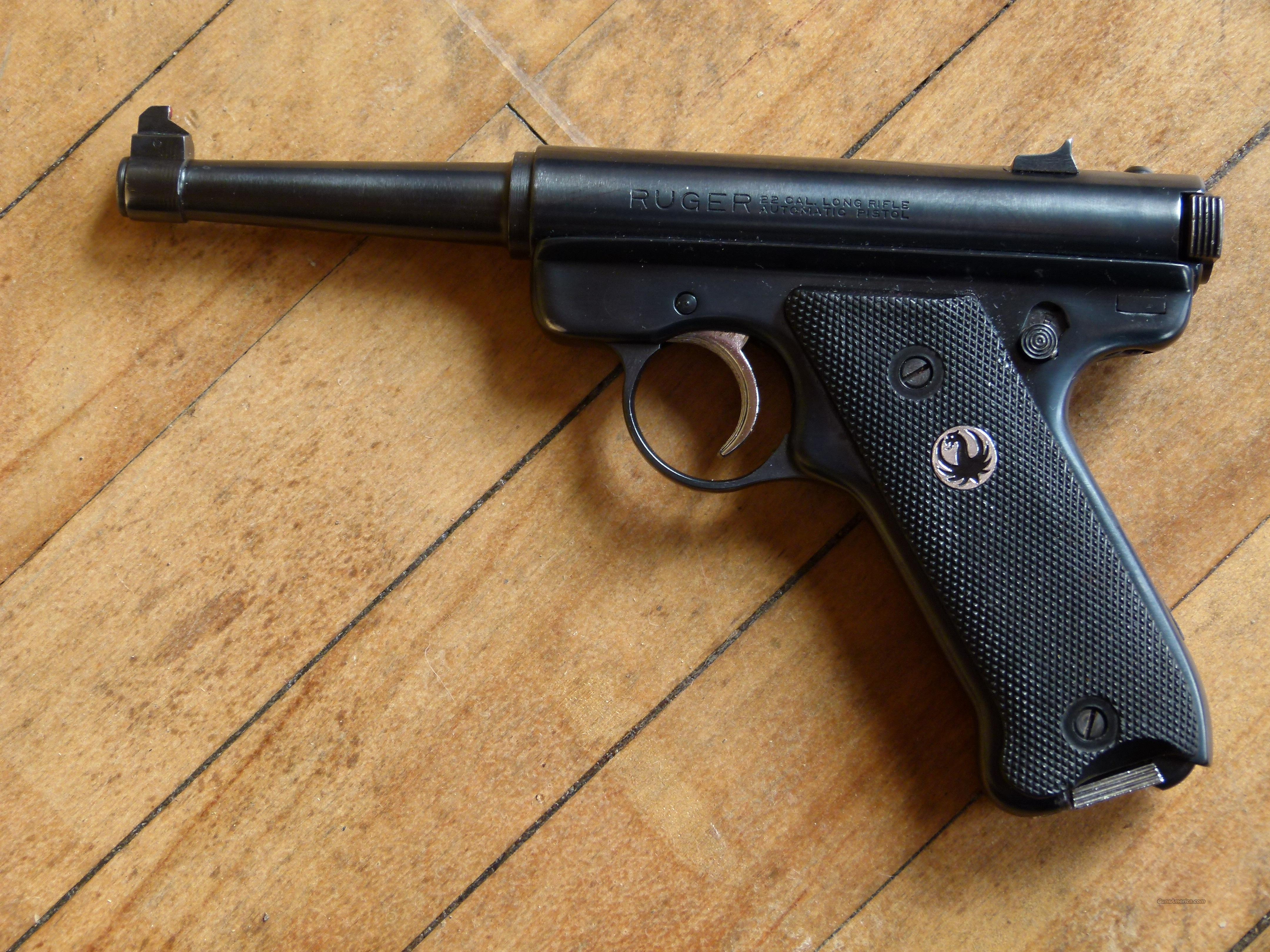 ruger standard 4 3/4 early 1960s  Guns > Pistols > Ruger Semi-Auto Pistols > Mark I & II Family