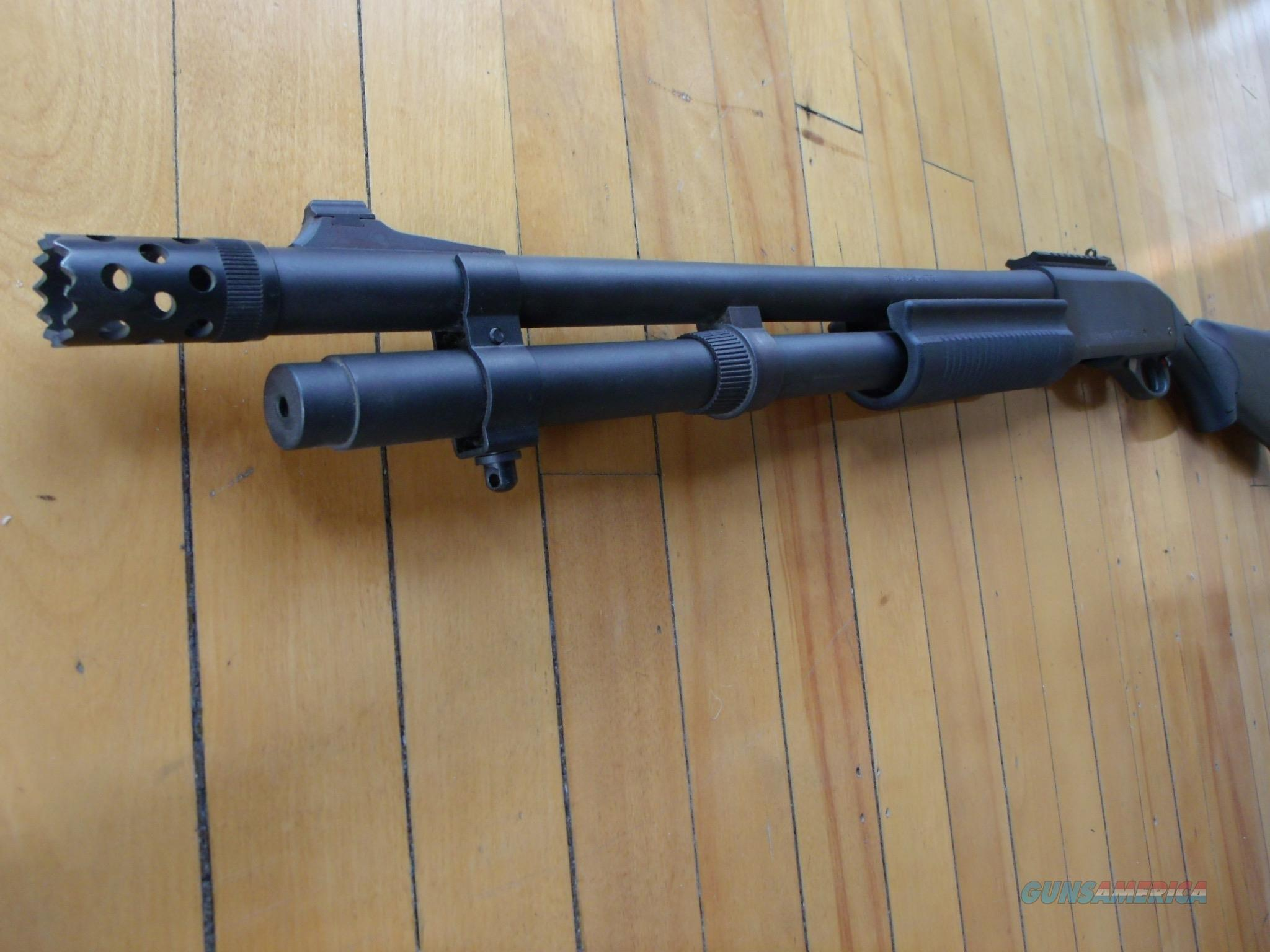 Remington 870 tactical with fancy device at end of barrel  Guns > Shotguns > Remington Shotguns  > Pump > Tactical