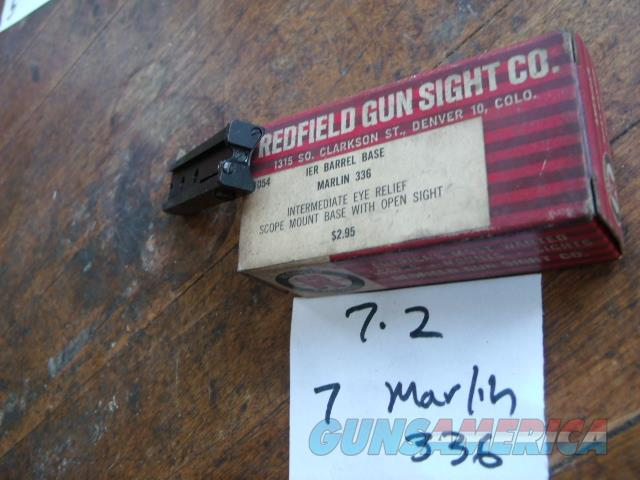 marlin 36 rear sight + scope base in one  Non-Guns > Iron/Metal/Peep Sights