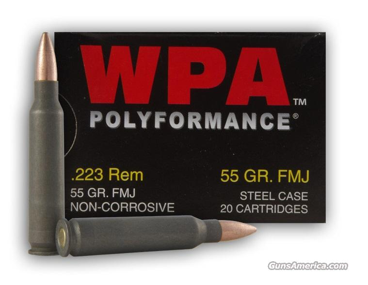 500 rounds Wolf Polyformance 5.56/.223 55gr. FMJ  Non-Guns > Ammunition