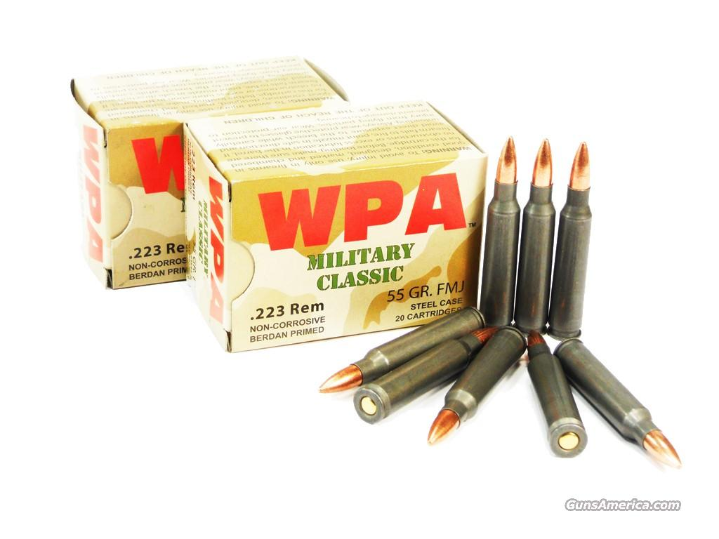 500 Rounds Wolf Military Classic .223 / 5.56 55 GR FMJ  Non-Guns > Ammunition