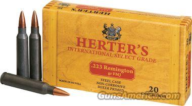 200 Rnds of Herter's .223 Steel Case 55 gr FMJ  Non-Guns > Ammunition