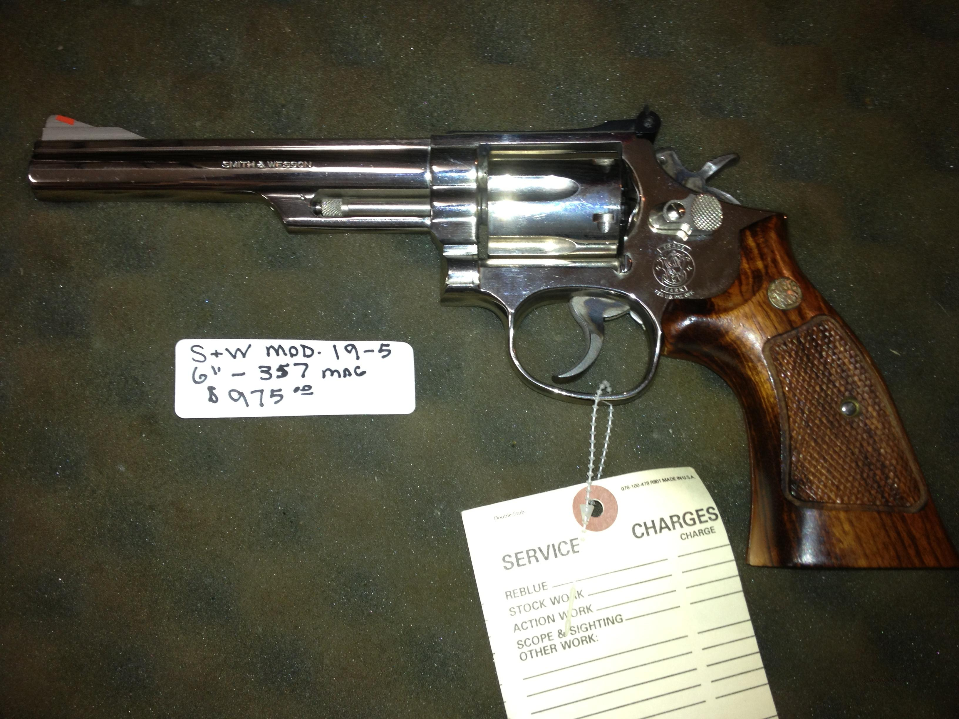 Smith & Wesson mod 19-5, 357  Guns > Pistols > Smith & Wesson Revolvers > Full Frame Revolver