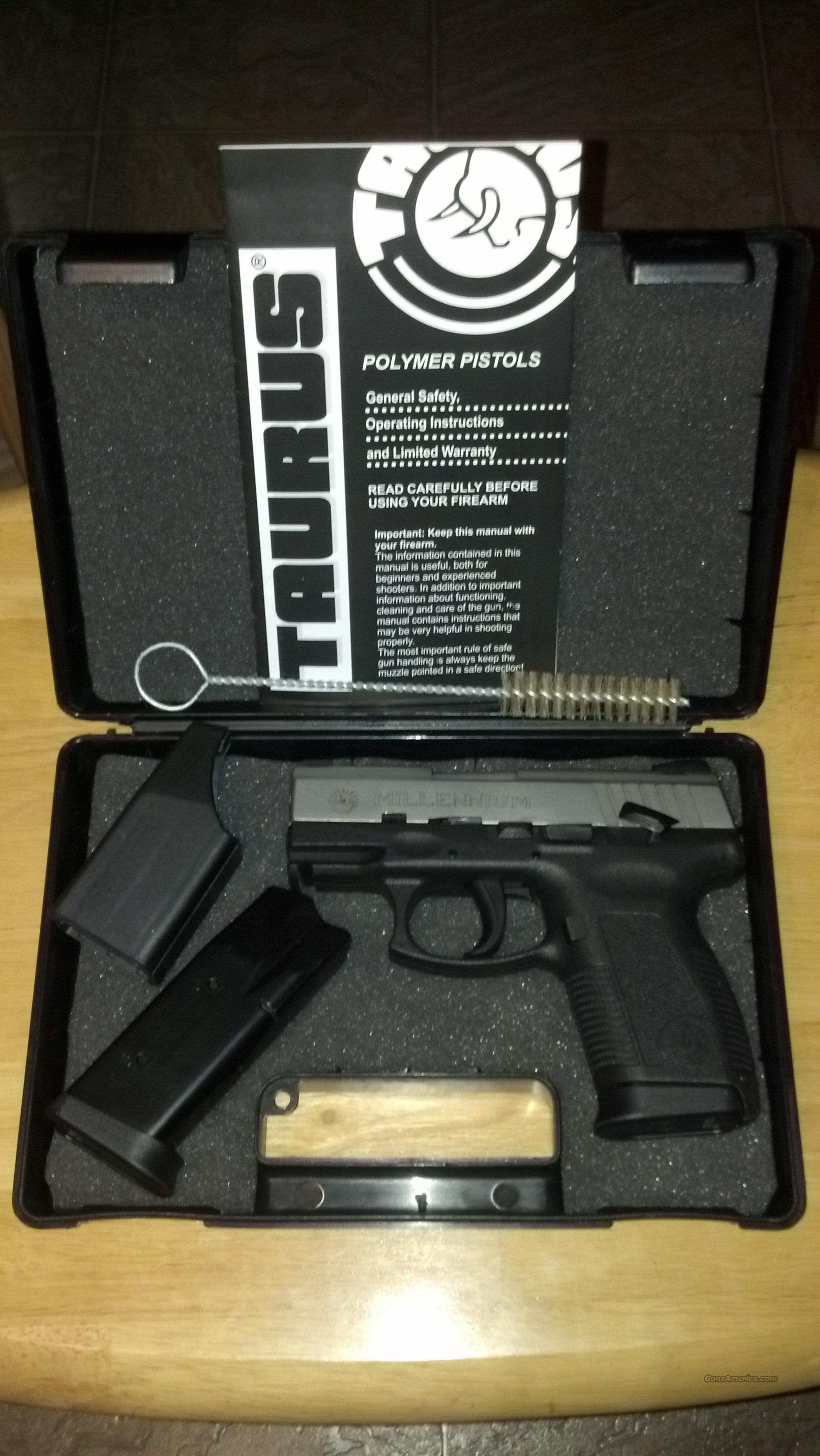 Taurus .45acp Millenium Pro Unfired Free Shipping  Guns > Pistols > Taurus Pistols/Revolvers > Pistols > Polymer Frame