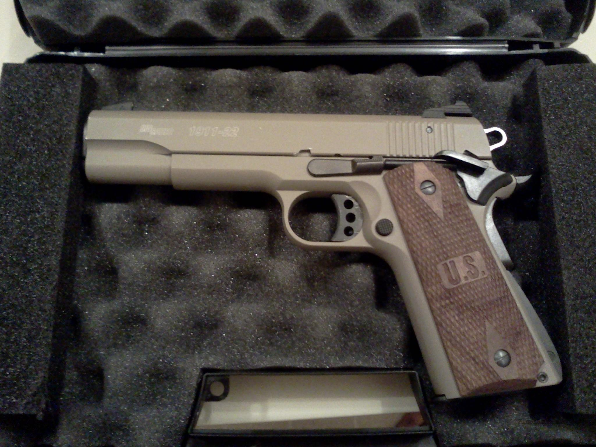 Sig Sauer 1911-22 FDE w/ SS Guide Rod & Recoil Spring Upgrade  Guns > Pistols > Sig - Sauer/Sigarms Pistols > 1911