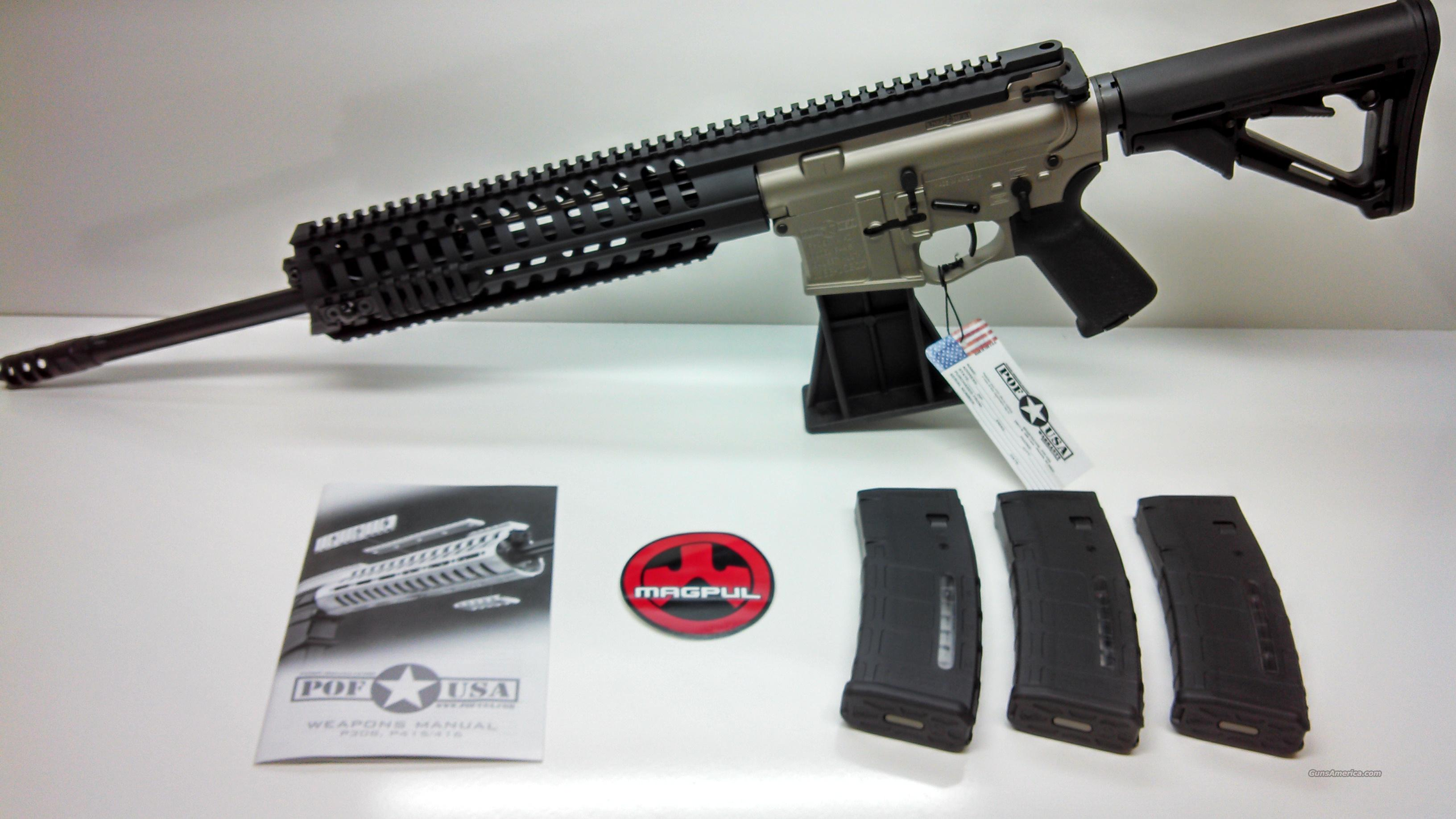 POF-USA P415 18'' SERIES T RAIL 5.56NATO NP3 COATED - PMAG MAGAZINES INCLUDED  Guns > Rifles > Tactical/Sniper Rifles