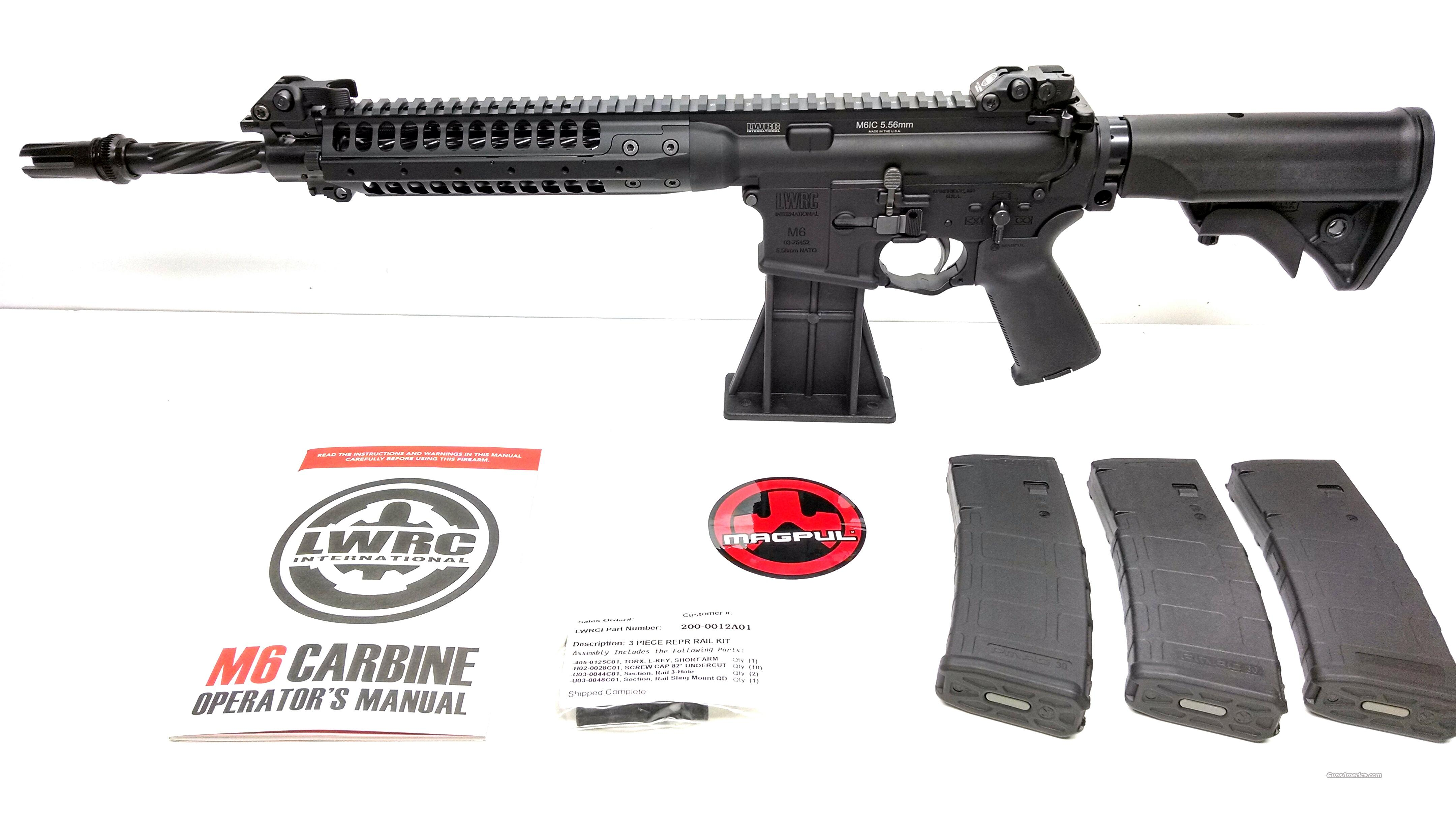 "LWRC M6 IC Enhanced 5.56 NATO 14.7"" Spiral Barrel - ACC 51T Blackout Flash Hider  Guns > Rifles > Tactical Rifles Misc."