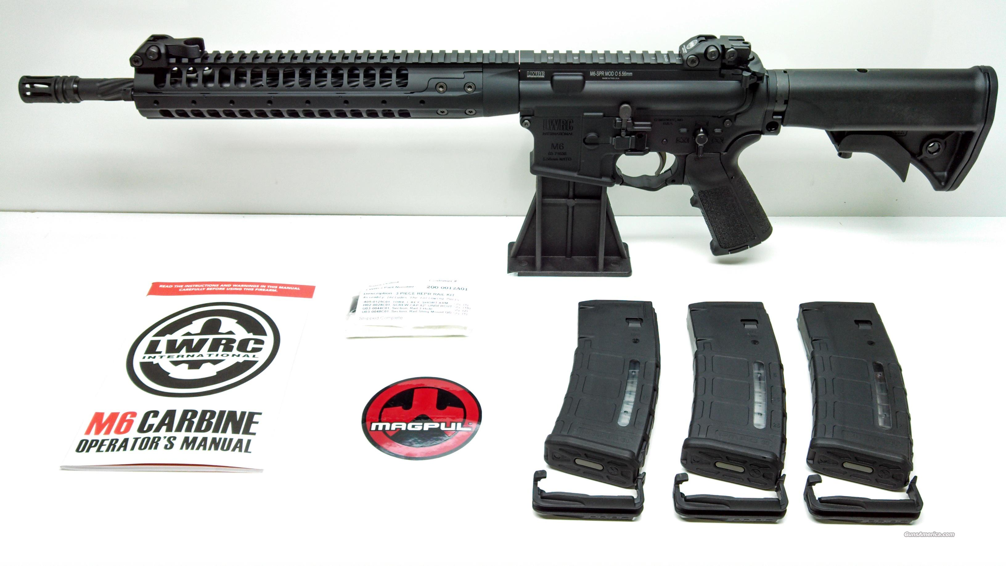 "LWRC M6A2 SPR 5.56NATO 14.7"" Spiral Fluted Barrel - PMAGS INCLUDED  Guns > Rifles > Tactical Rifles Misc."