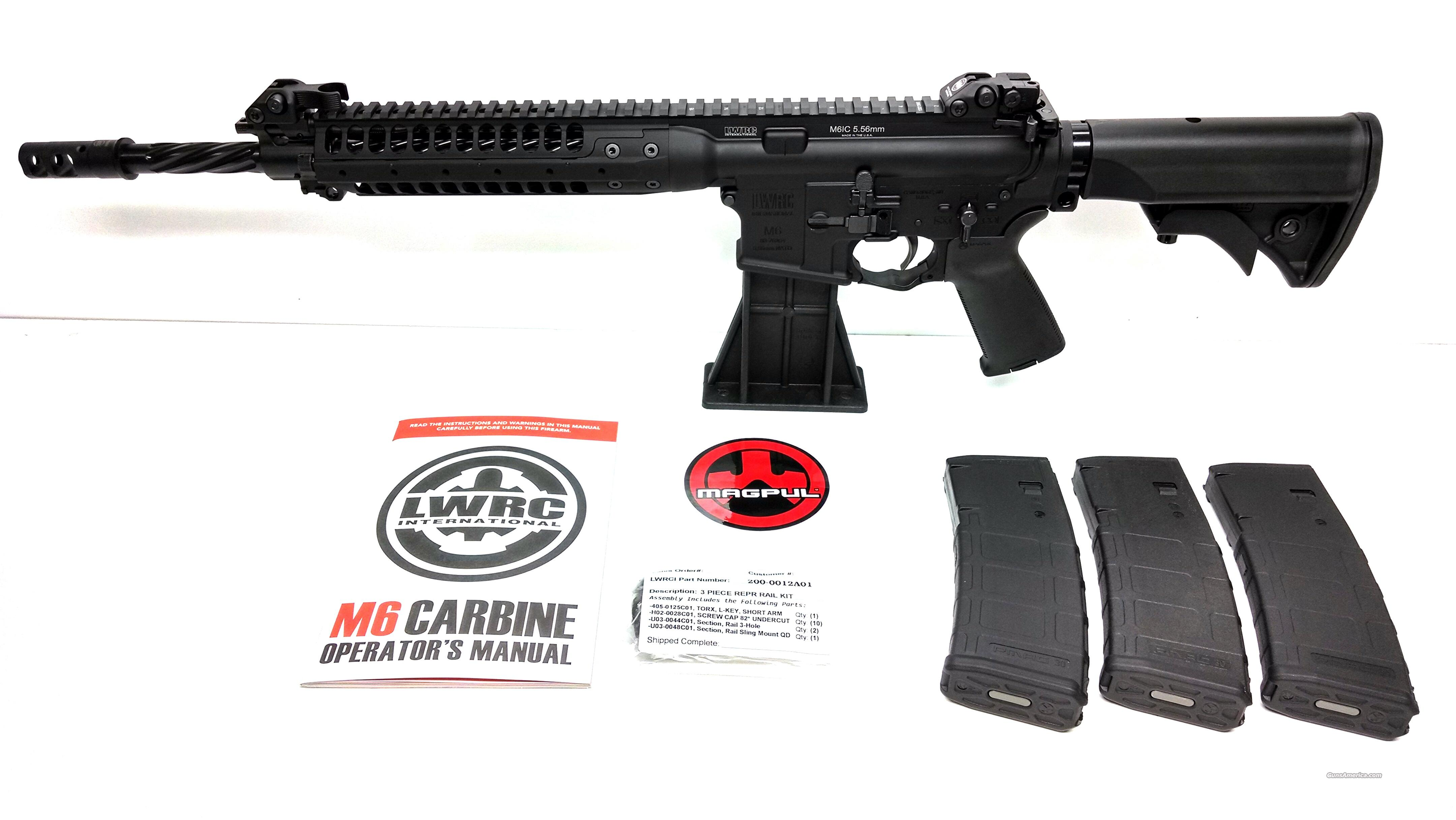 "LWRC M6 IC Enhanced 5.56 NATO 14.7"" Spiral Barrel Black - Surefire Muzzle Brake  Guns > Rifles > Tactical Rifles Misc."