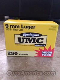 9mm AMMO Remington x 250 rounds  Non-Guns > Ammunition
