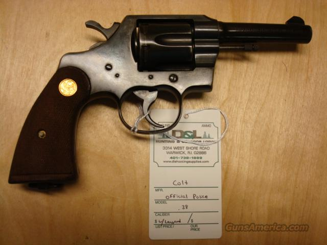 "COLT OFFICIAL POLICE 38 4"" W/ LANYARD  Guns > Pistols > Colt Double Action Revolvers- Modern"