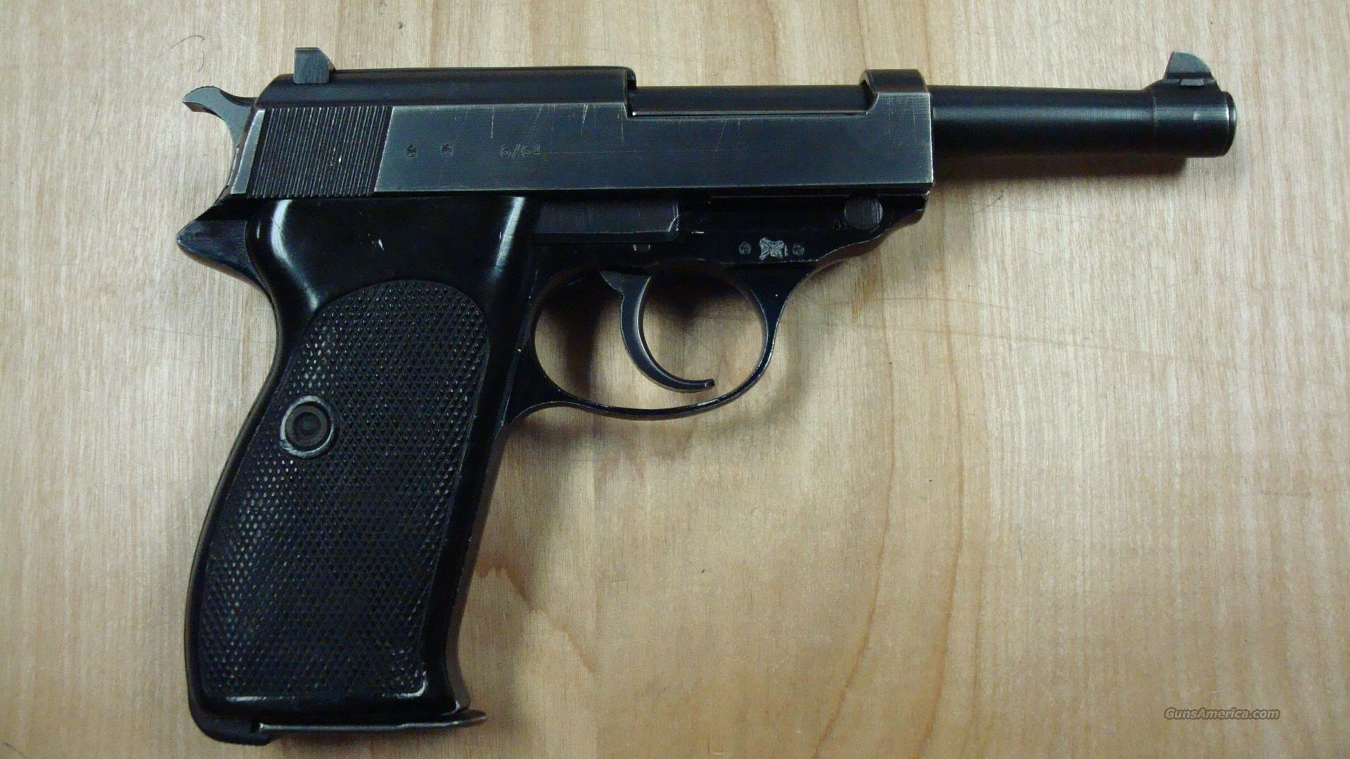 WALTHER P38 P1 9MM MINT W/ BOX  Guns > Pistols > Walther Pistols > Post WWII > P-38