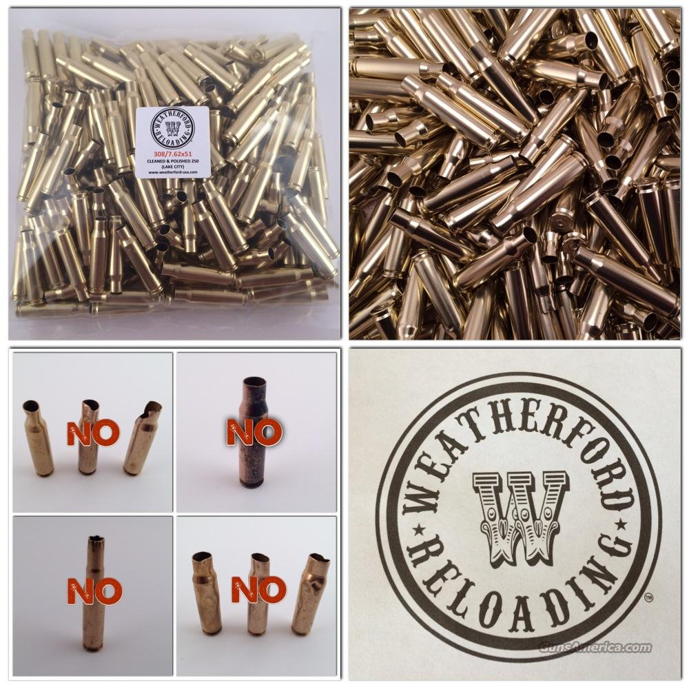 1000 Lake City 7.62X51 308 Brass, Clean, Once Fired  Non-Guns > Reloading > Components > Brass
