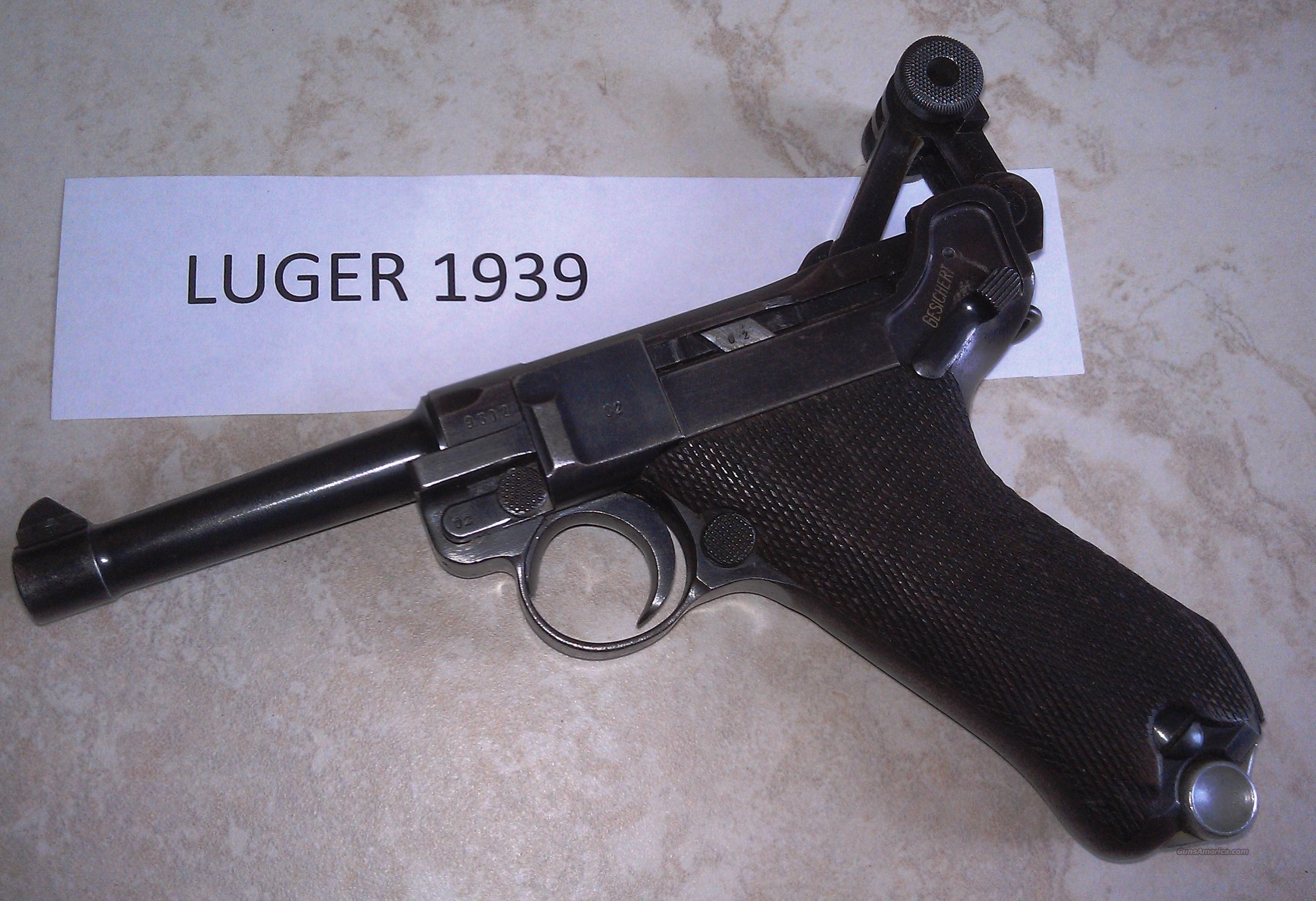 1939 Luger WW2 Pistol, original all matching, G... for sale