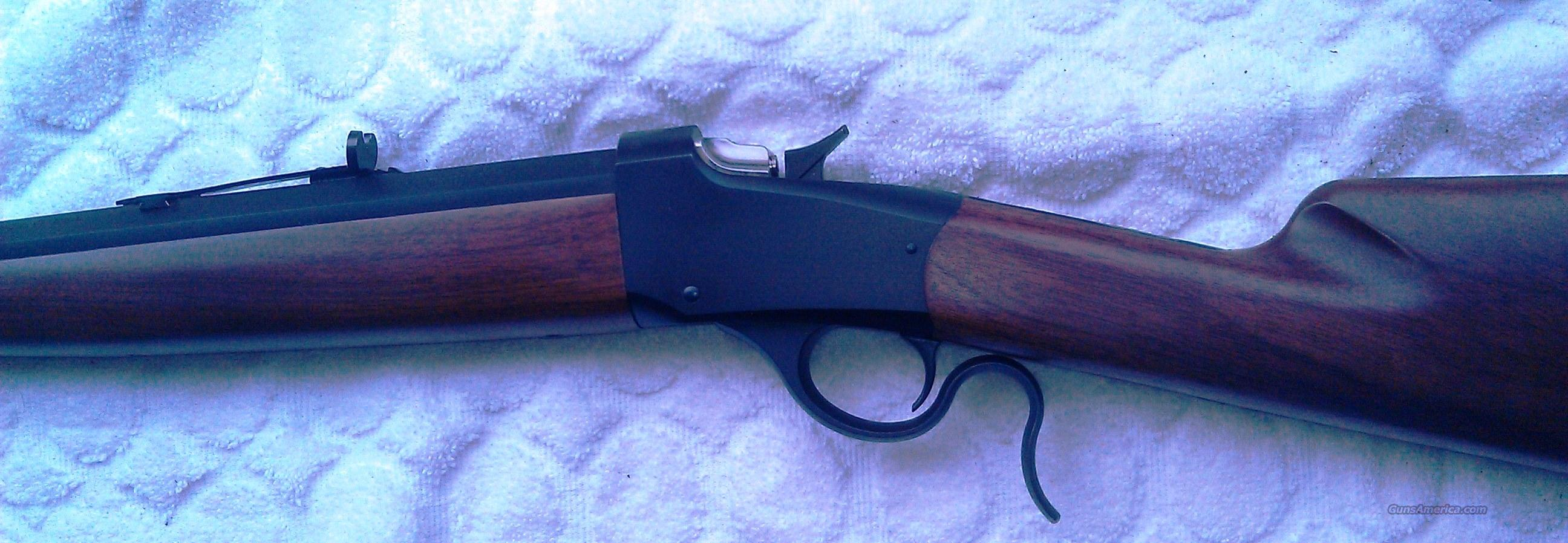 Winchester Low-wall 3/4 Octagon, round barrel Rifle .22LR UNFIRED!  Guns > Rifles > Winchester Replica Rifle Misc.