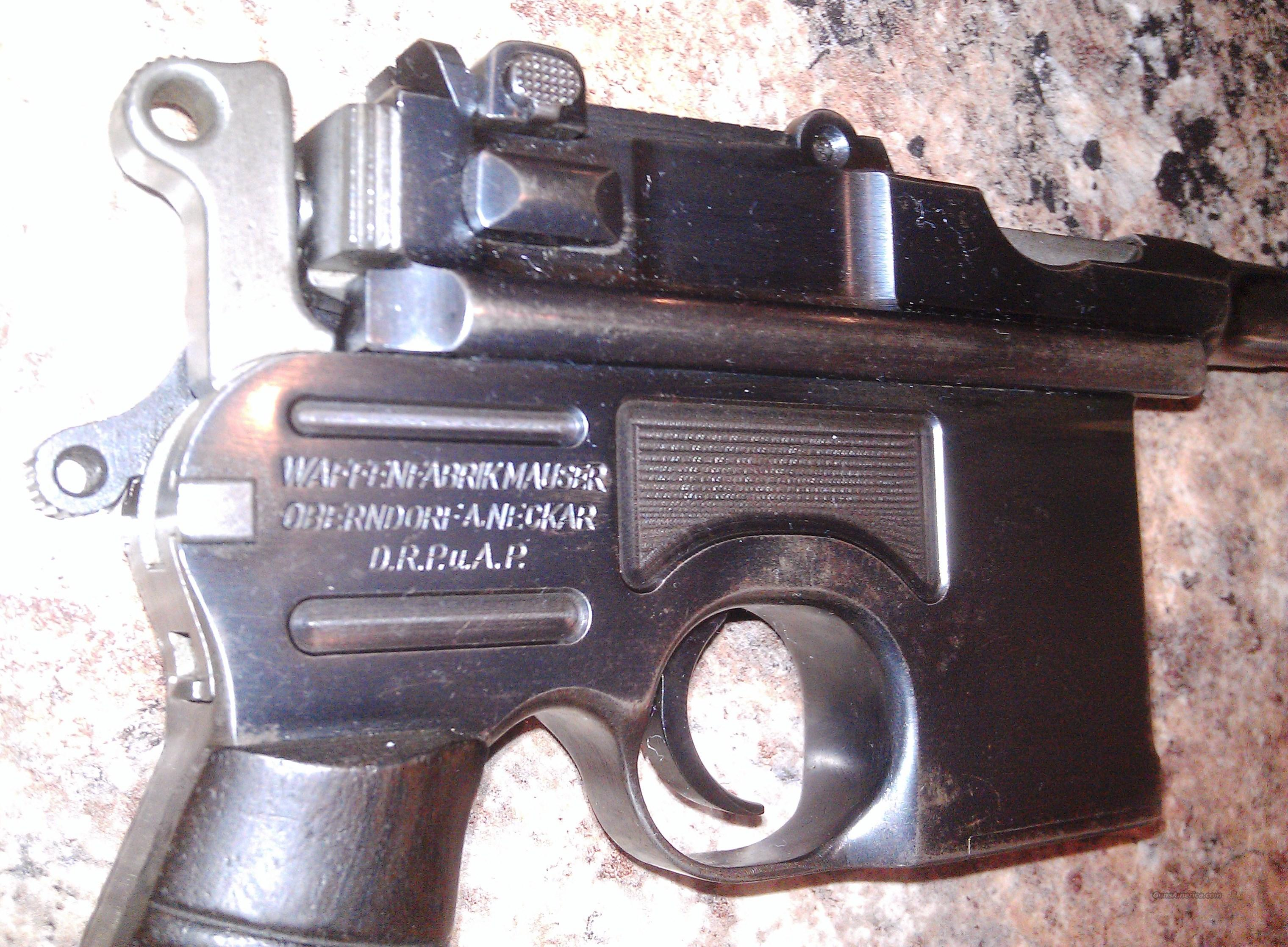 "BROOMHANDLE LATE PRODUCTION (M30). MODEL1930 ""Late Production"", Excellent, Intact and Original  Guns > Pistols > Mauser Pistols"