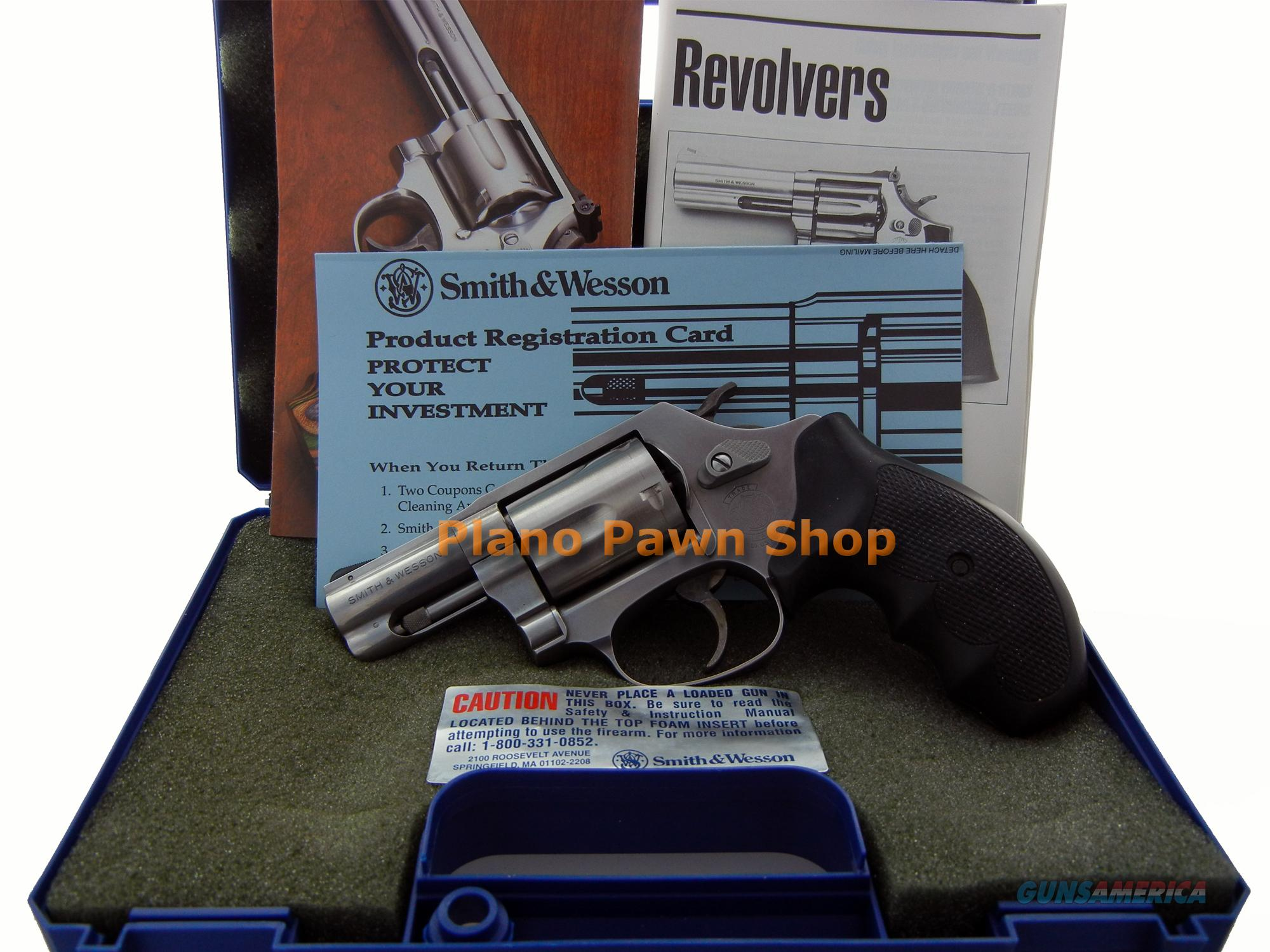 Smith and Wesson Stainless Steel Model 60-9 .357 MAG LIKE NEW in Case  Guns > Pistols > Smith & Wesson Revolvers > Full Frame Revolver