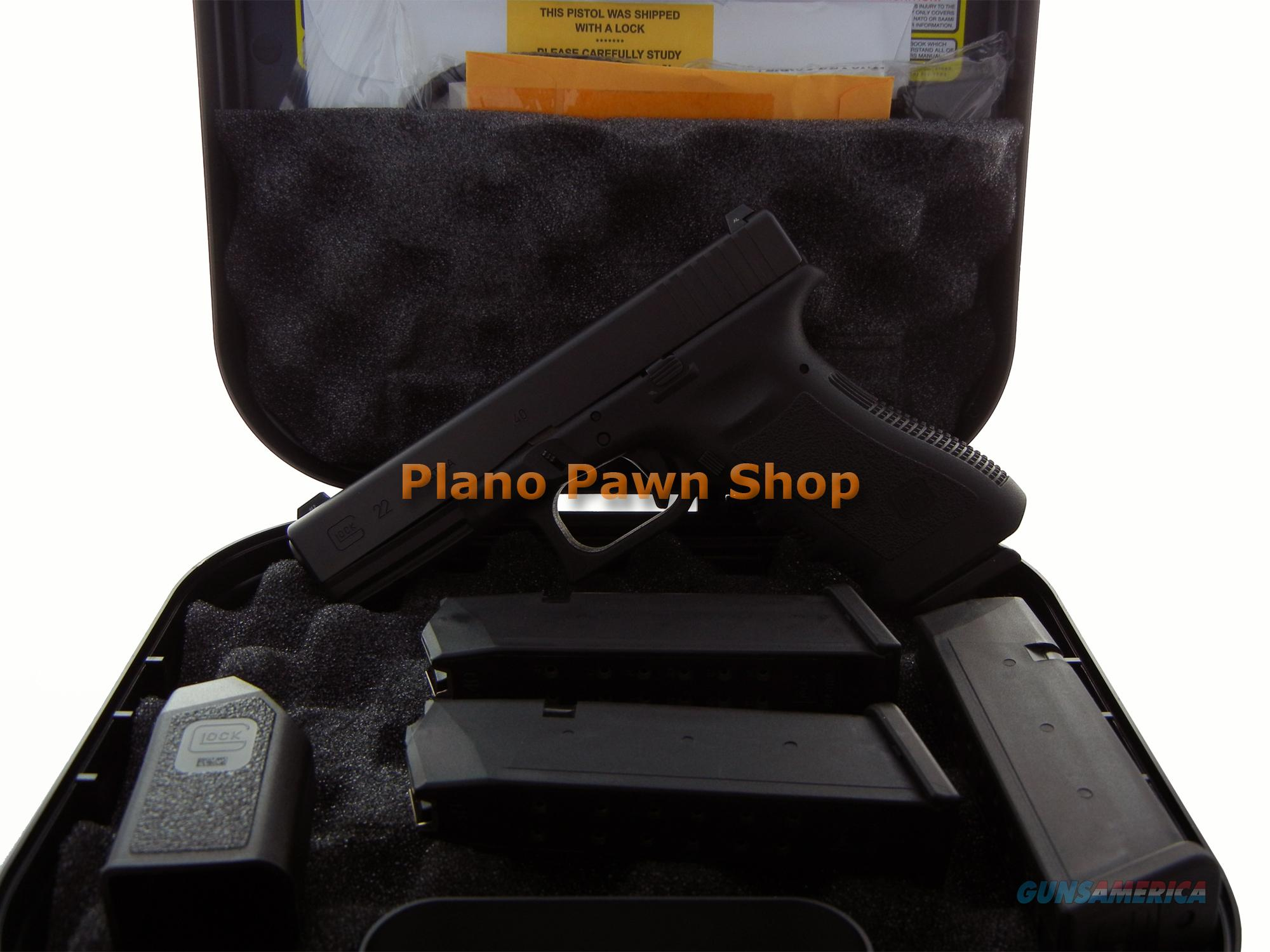 Glock Model 22 .40SW in Case with 4 Mags & Glock Night Sights  Guns > Pistols > Glock Pistols > 22