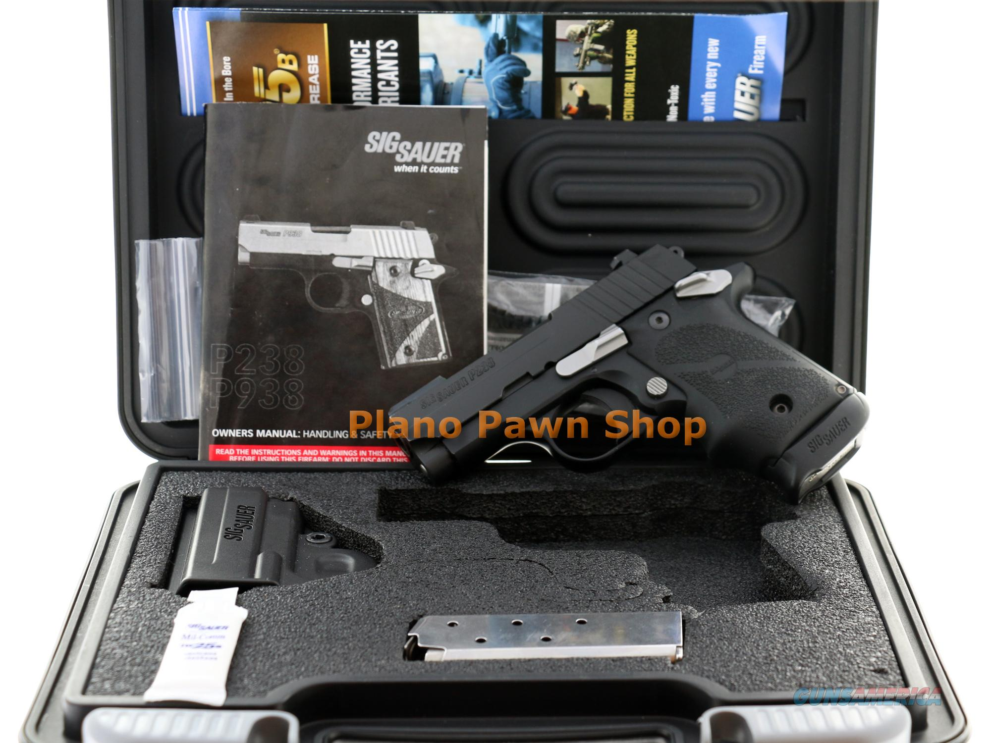 SIG Sauer Model P238 .380 ACP in Case with 2 Magazines & Night Sights  Guns > Pistols > Sig - Sauer/Sigarms Pistols > P238