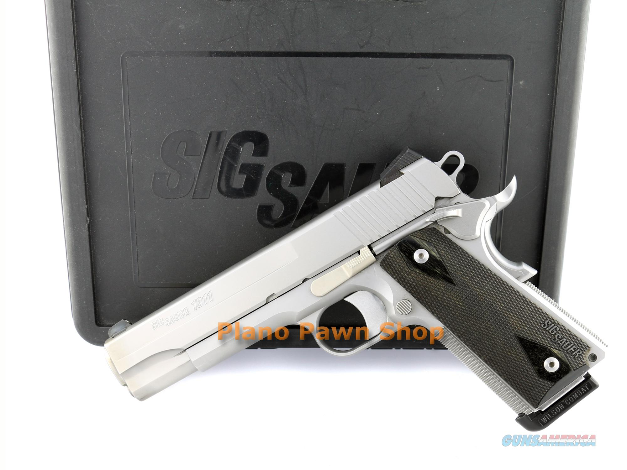 SIG Sauer Model 1911 .45 ACP Stainless Steel with Night Sights in Case with 1 Mag  Guns > Pistols > Sig - Sauer/Sigarms Pistols > 1911