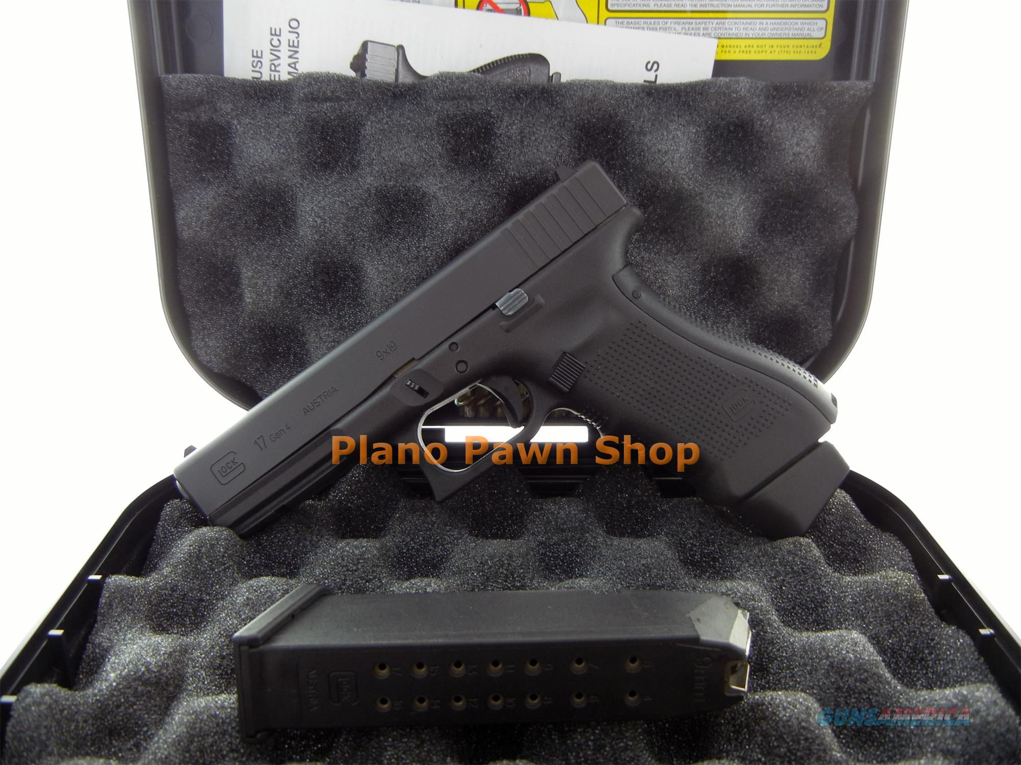 Glock Model 17 Gen 4 9mm in Case with 2 High Capacity Mags  Guns > Pistols > Glock Pistols > 17