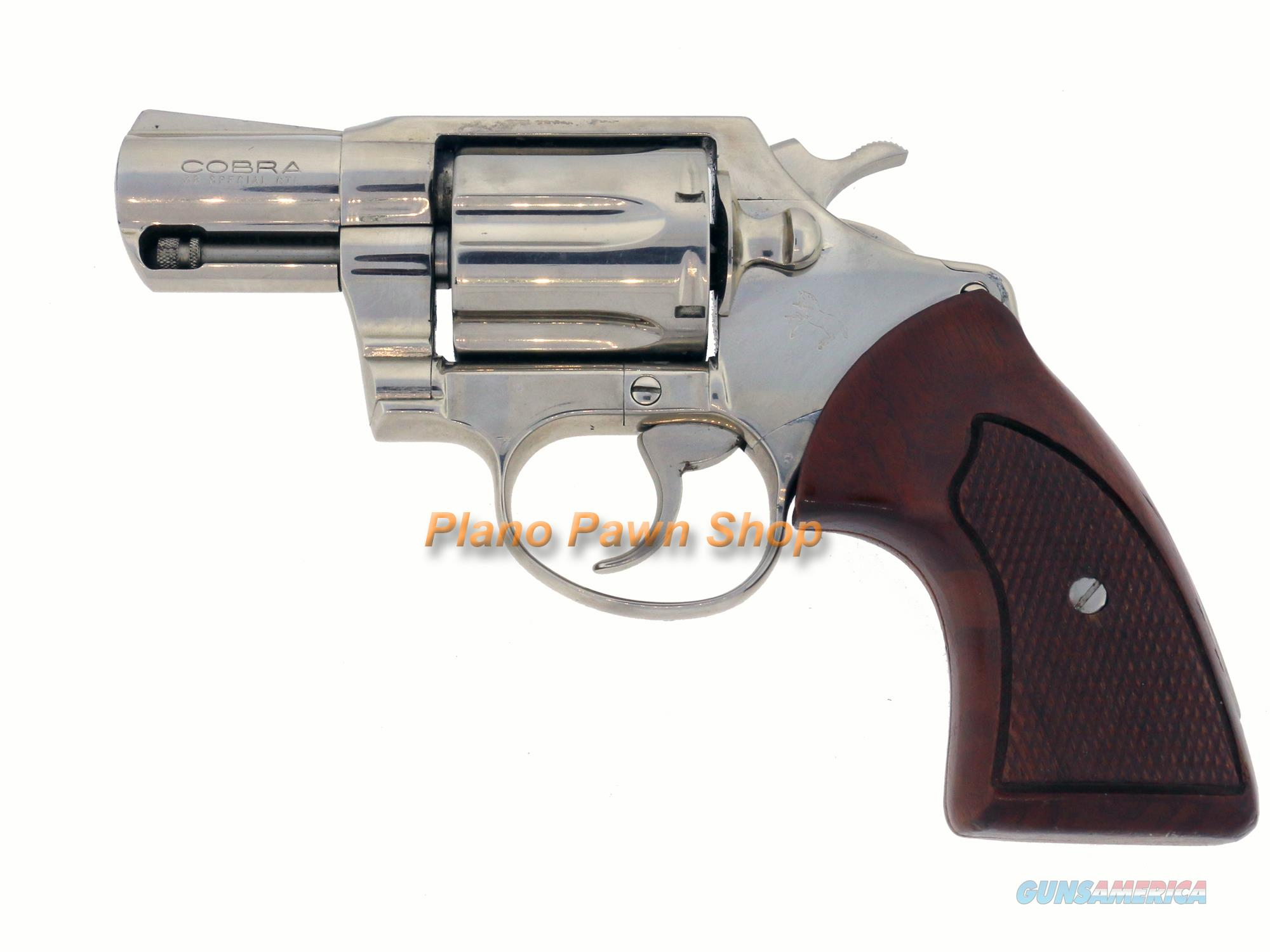 "Colt Cobra .38SP 2"" Nickle Double Action Revolver  Guns > Pistols > Colt Double Action Revolvers- Modern"