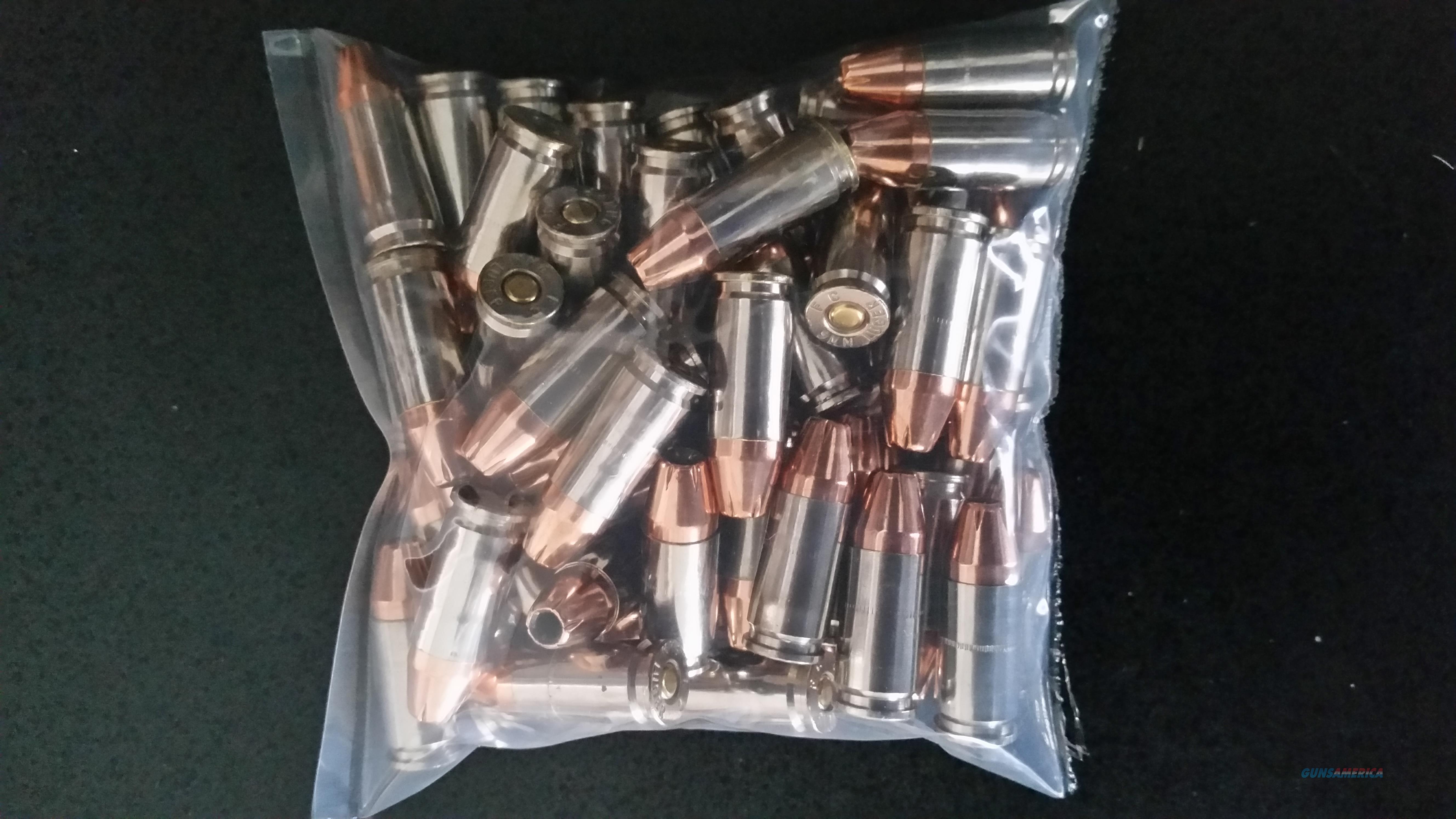 9mm 124gr.  XTP Hollowpoints Nickel plated brass.  Non-Guns > Ammunition
