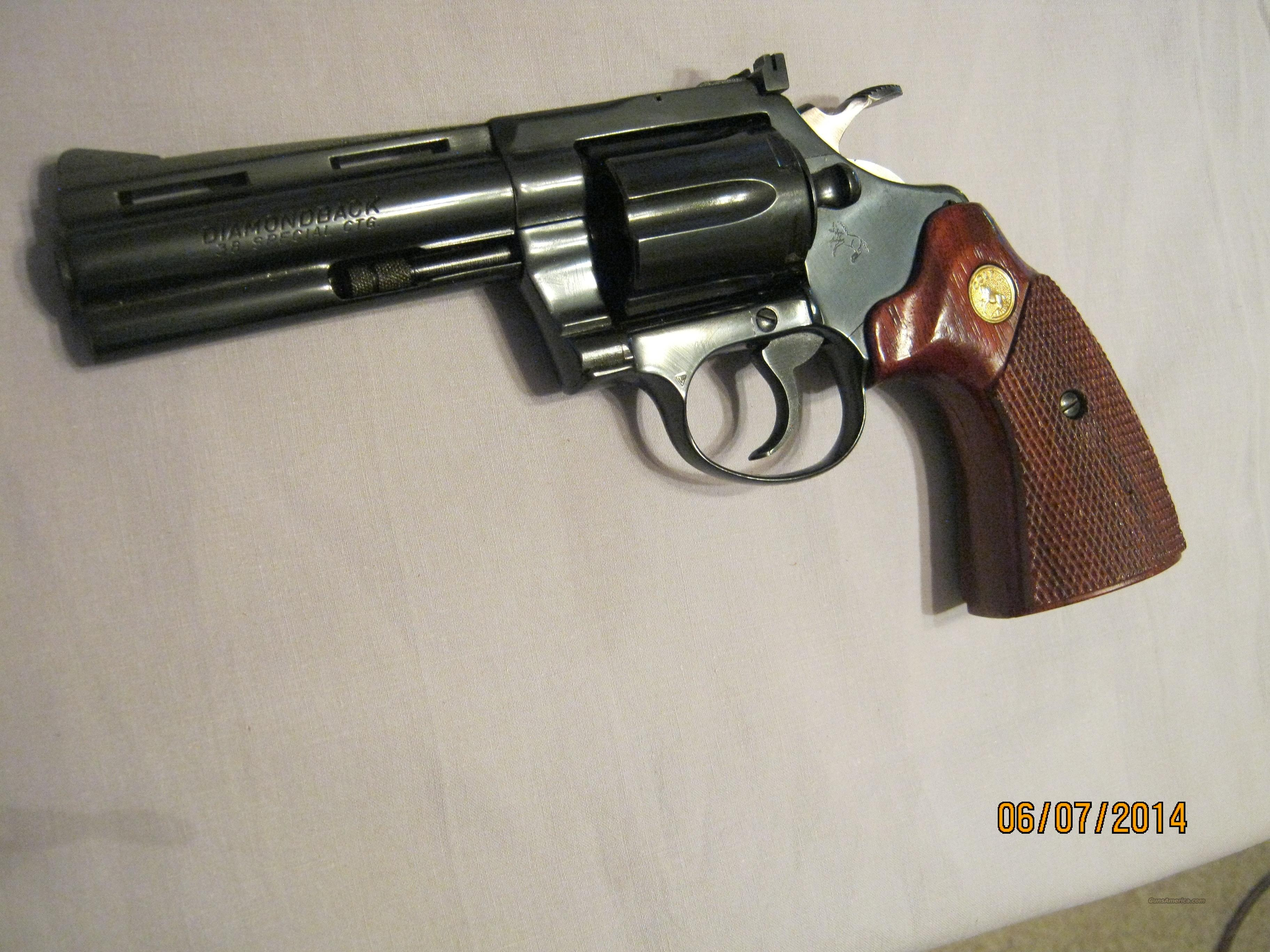 "Colt Diamondback 38special 4"" mfg 1978 as new  Guns > Pistols > Colt Double Action Revolvers- Modern"