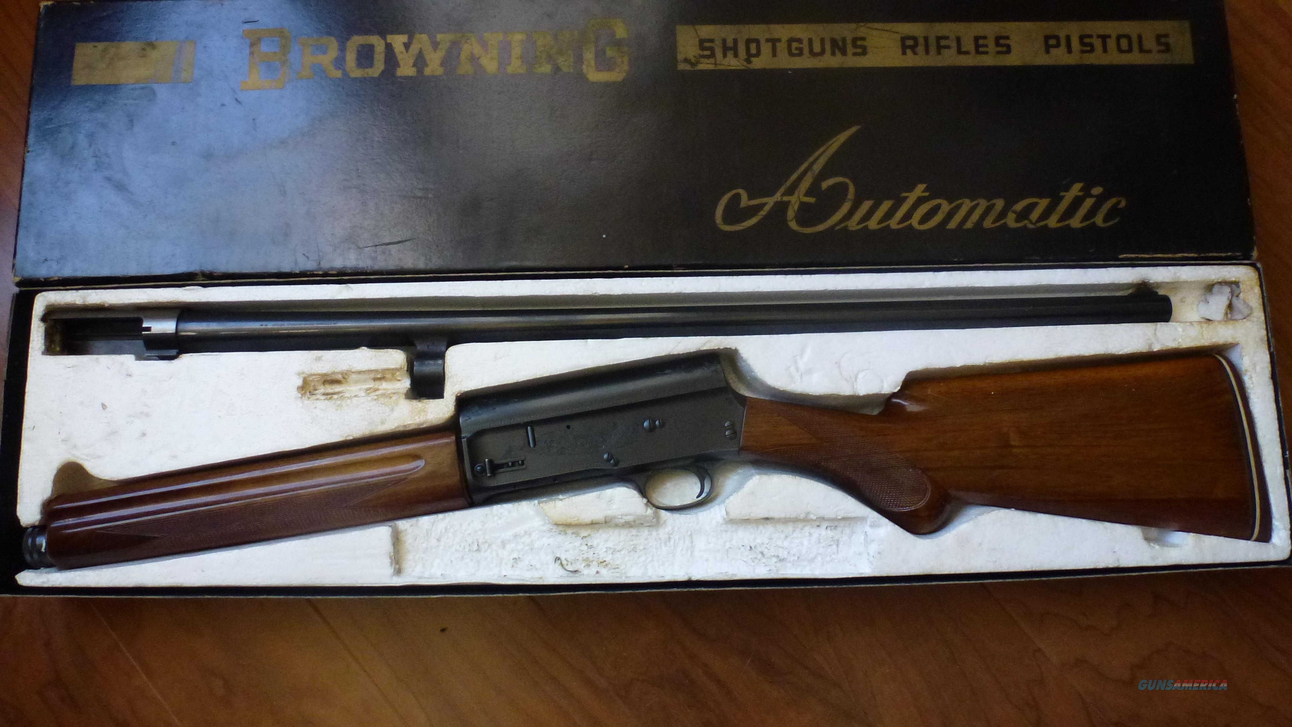 BROWNING 12 gauge A5 Belgium made  Guns > Shotguns > Browning Shotguns > Autoloaders > Hunting