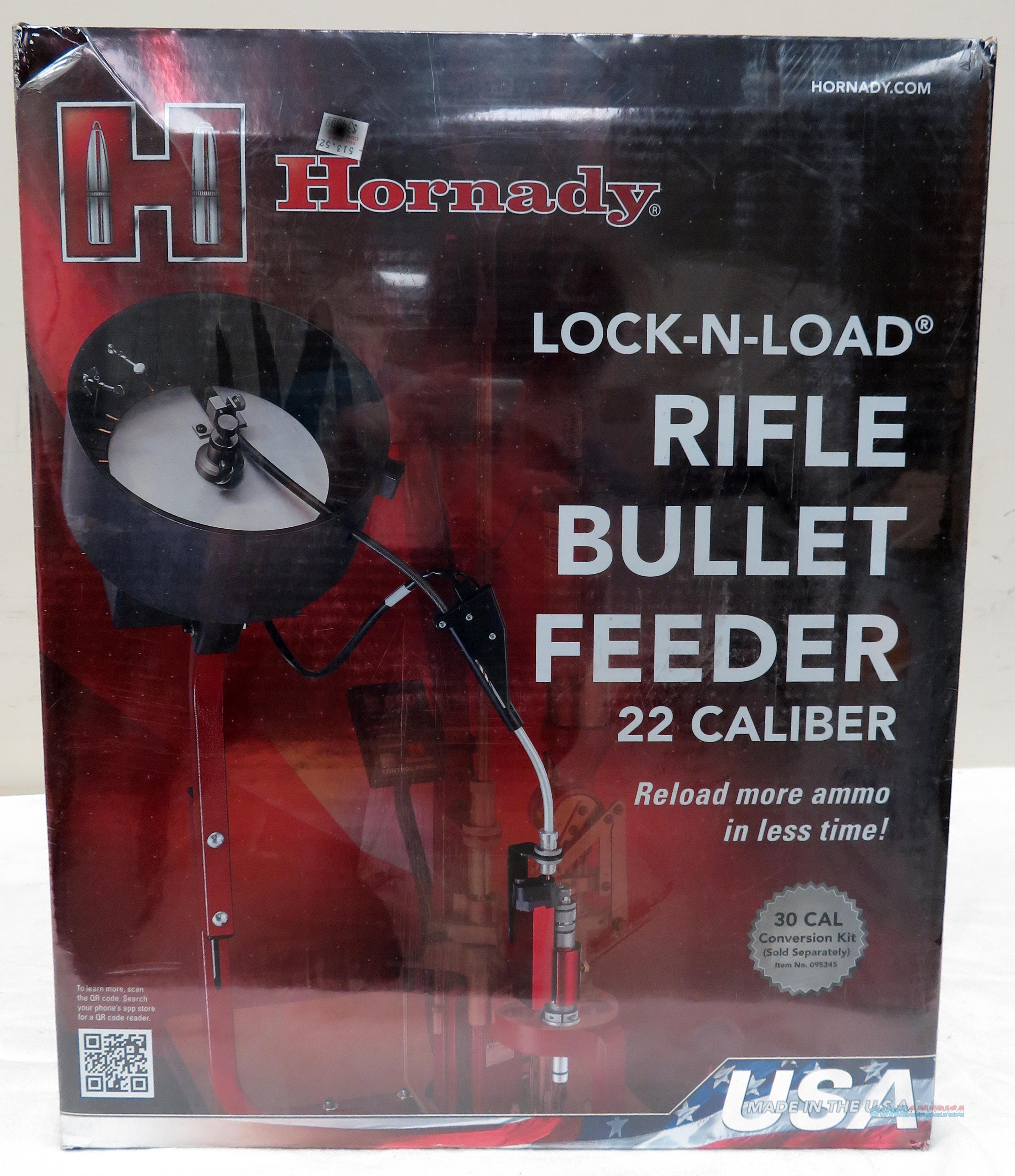 HORNADY RIFLE BULLET FEEDER .22 CAL (FOR Lock-N-Load® AP PRESS) 095340  Non-Guns > Reloading > Equipment > Metallic > Presses