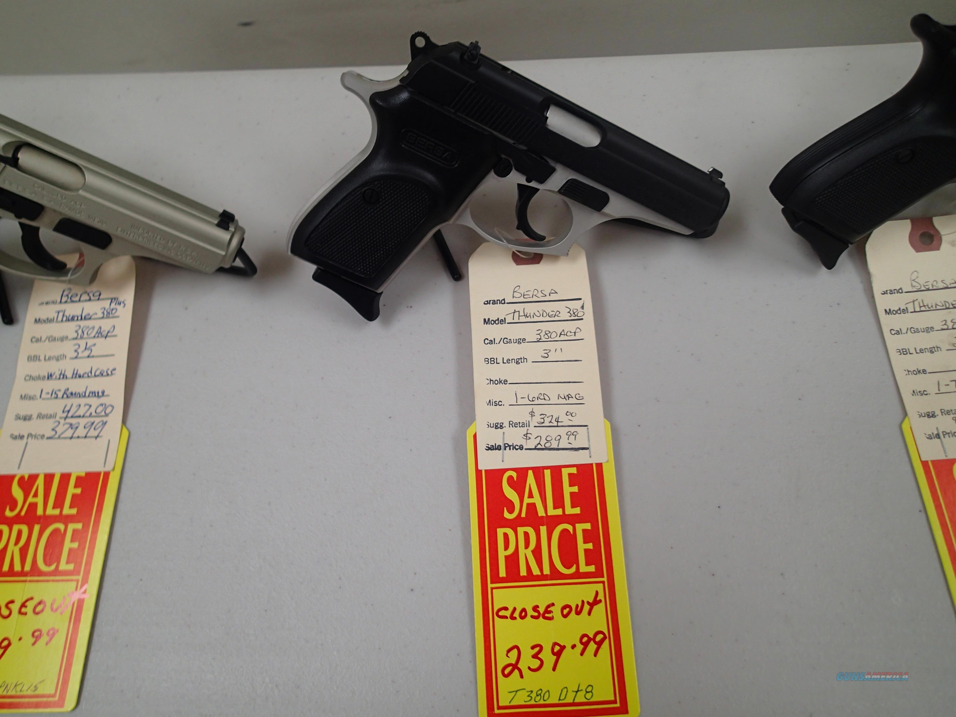 Bersa Thunder 380 Two Tone 1-7rd mag NIB closeout prices (96021)  Guns > Pistols > Bersa Pistols