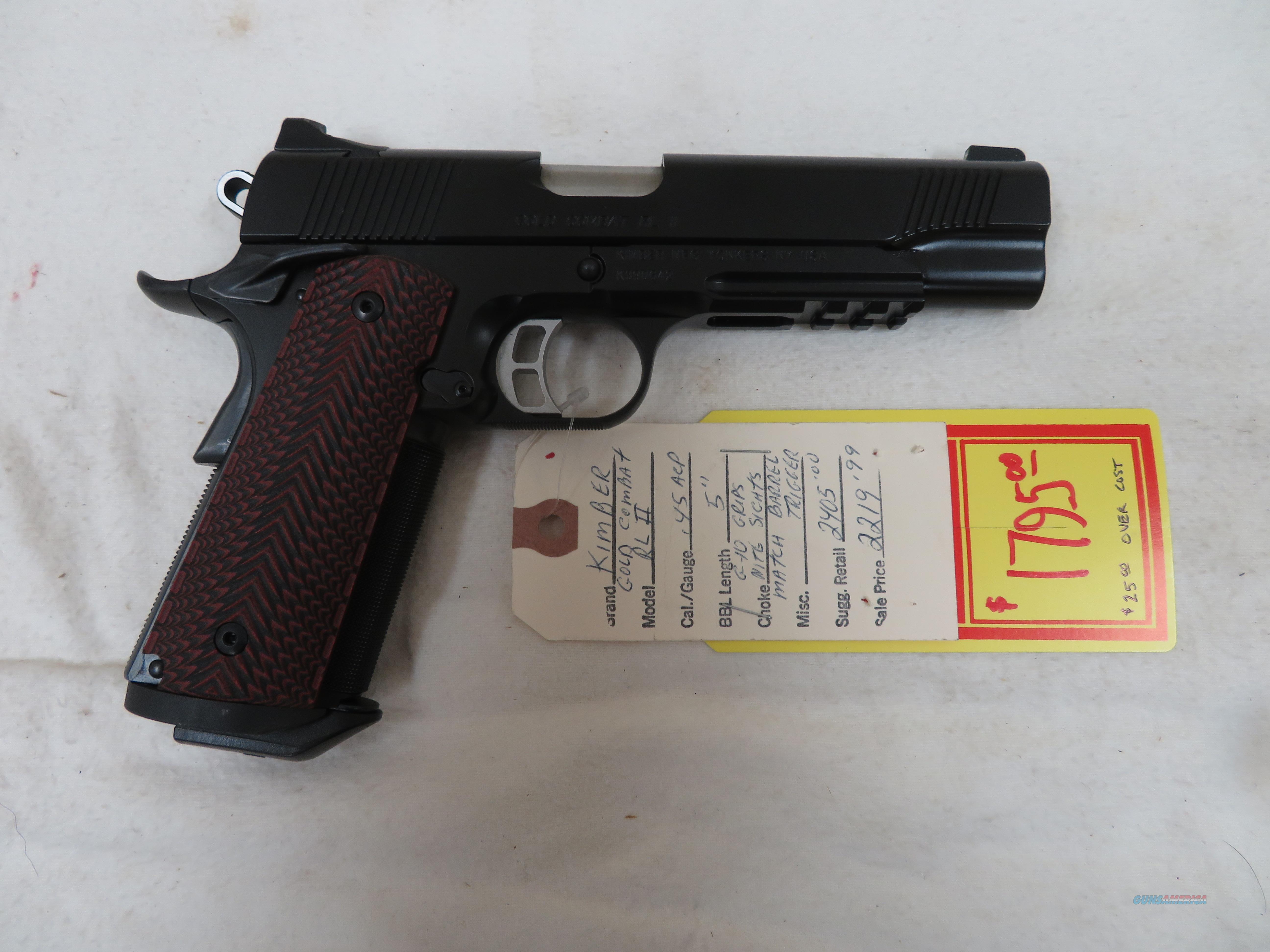 "KIMBER GOLD COMBAT RL II .45ACP 5""  Guns > Pistols > Kimber of America Pistols > 1911"