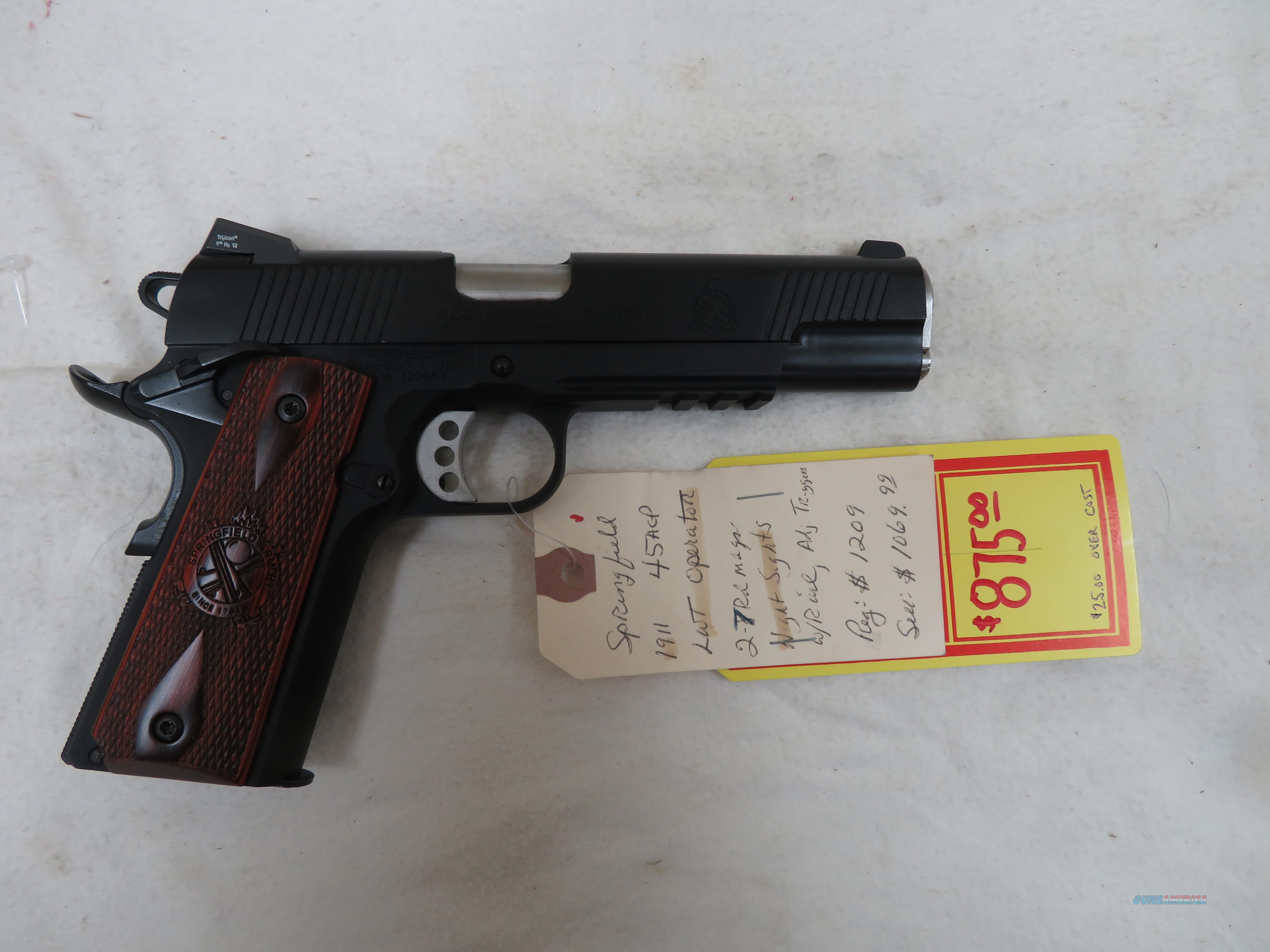 "SPRINGFIELD ARMORY 1911 LIGHTWEIGHT OPERATOR .45ACP 5""  Guns > Pistols > Springfield Armory Pistols > 1911 Type"