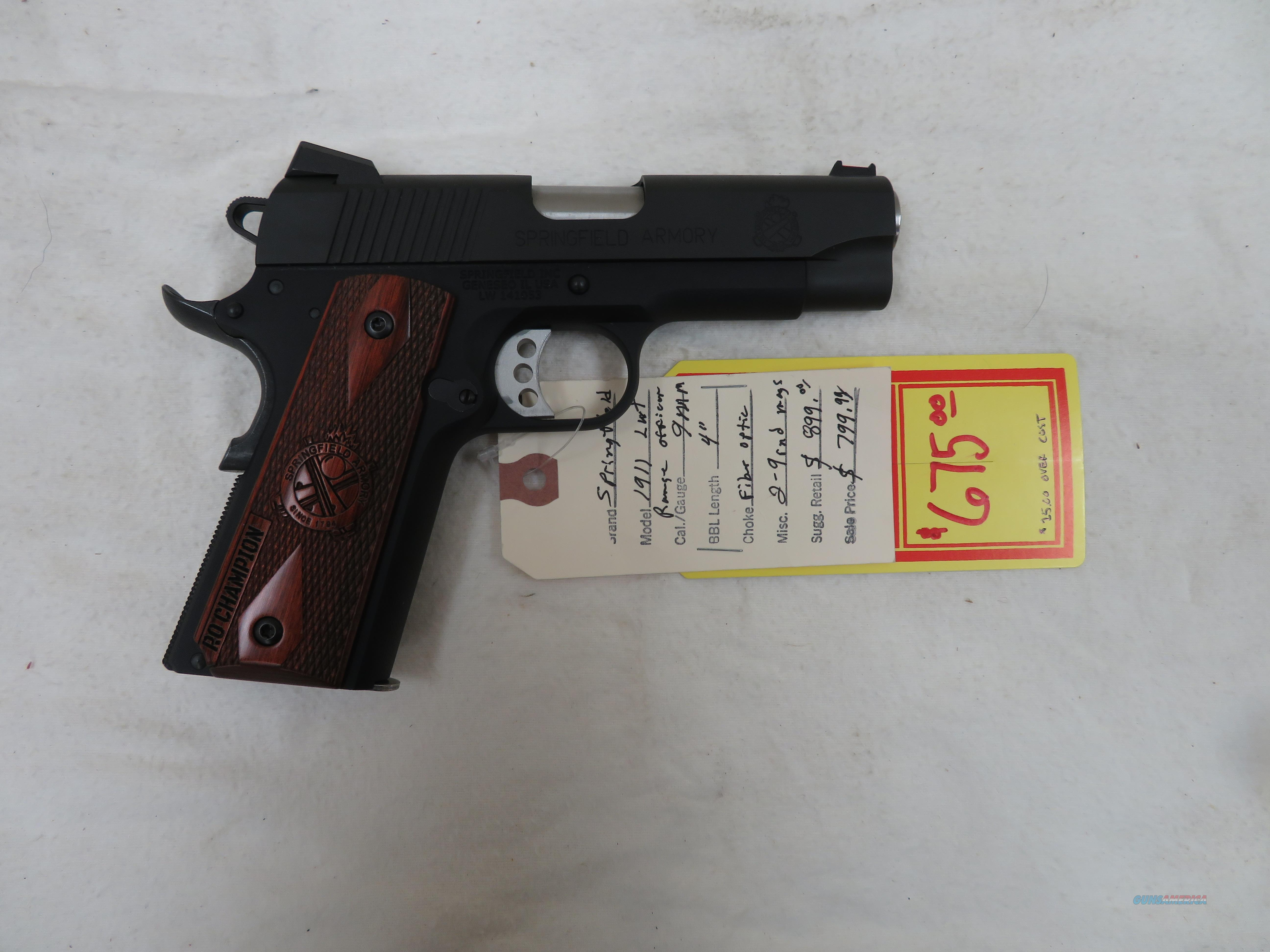 "SPRINGFIELD ARMORY 1911 LIGHTWEIGHT CHAMPION RANGE OFFICER 9MM 4""  Guns > Pistols > Springfield Armory Pistols > 1911 Type"