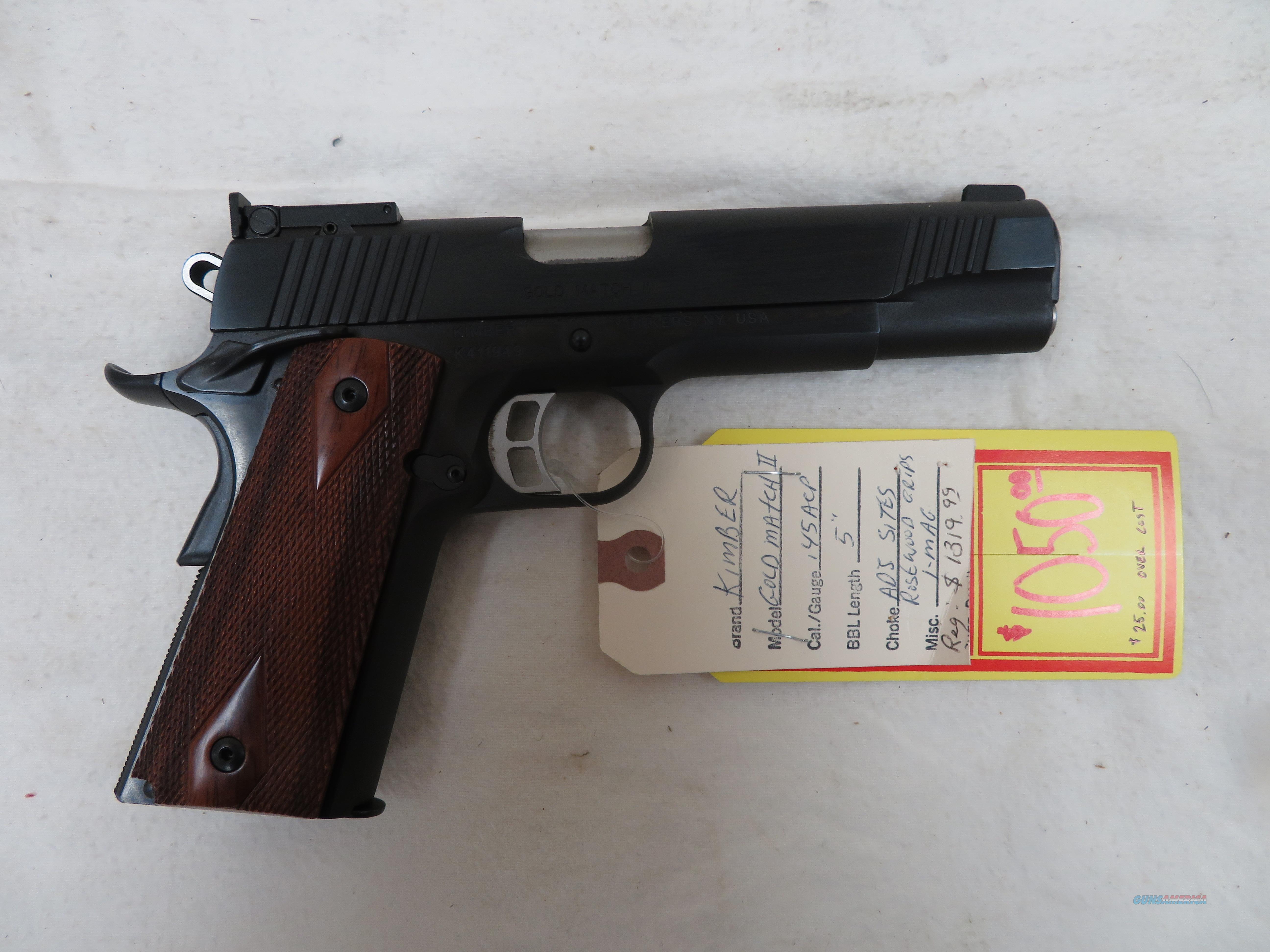 "KIMBER GOLD MATCH II .45ACP 5""  Guns > Pistols > Kimber of America Pistols > 1911"