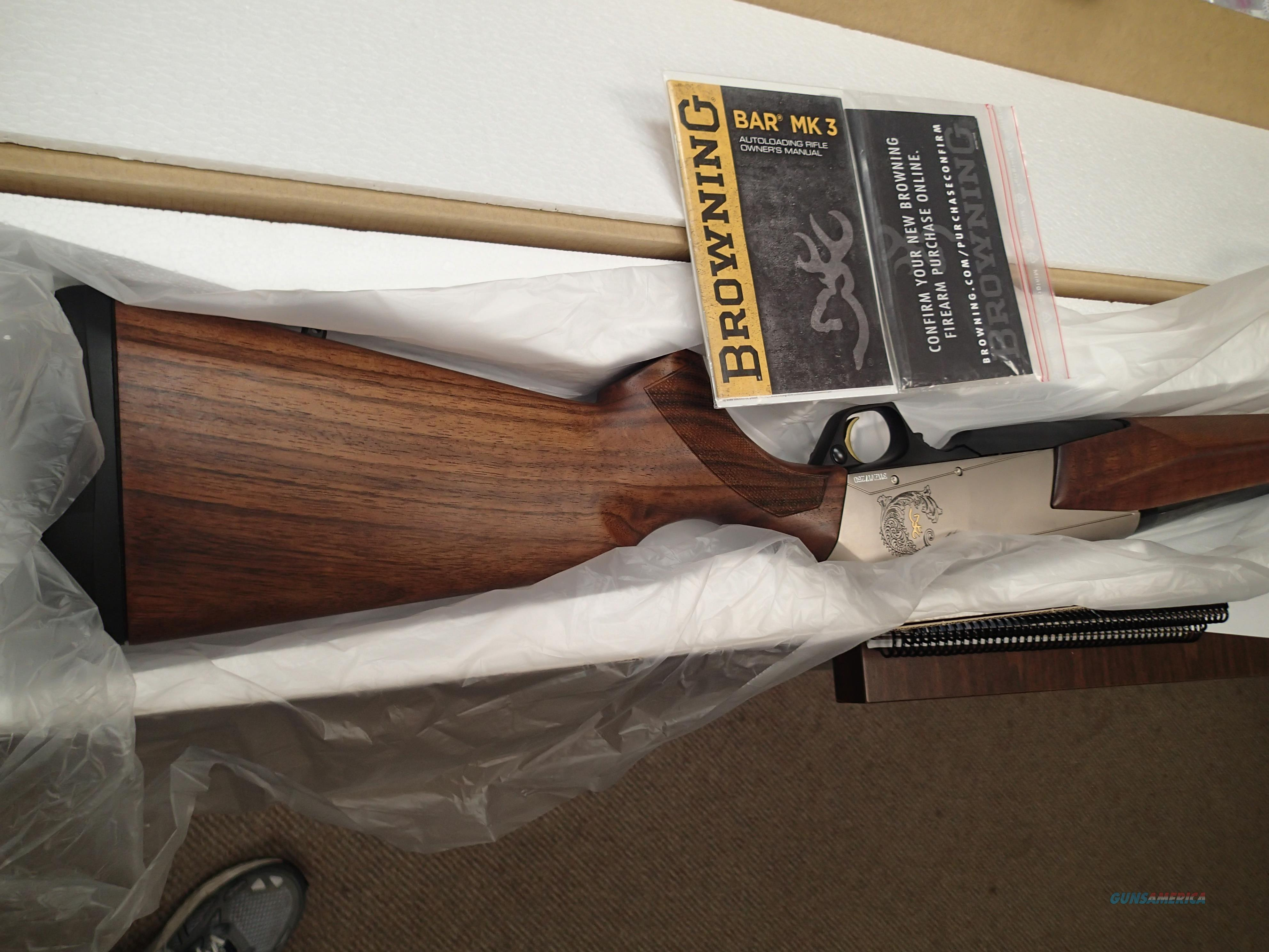 "Browning BAR MK3 Silver Receiver 23"" 270 wsm Caliber Scratch & Dent Sale   Guns > Rifles > Browning Rifles > Semi Auto > Hunting"