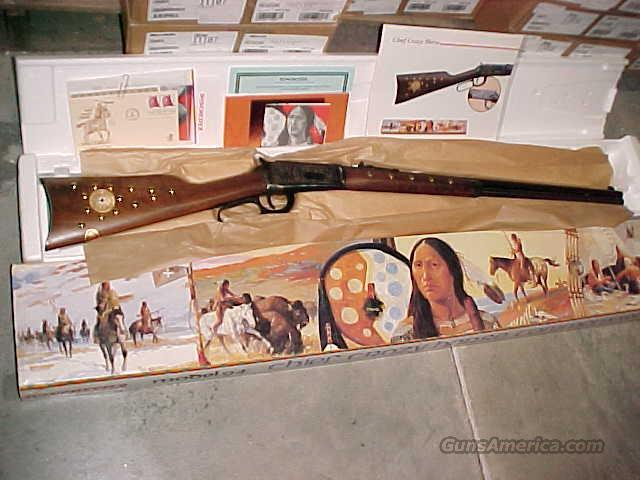 "Winchester 94 ""CHIEF CRAZY HORSE"" Commerative 38/55 NIB Hang Tag 1983  Guns > Rifles > Winchester Rifle Commemoratives"